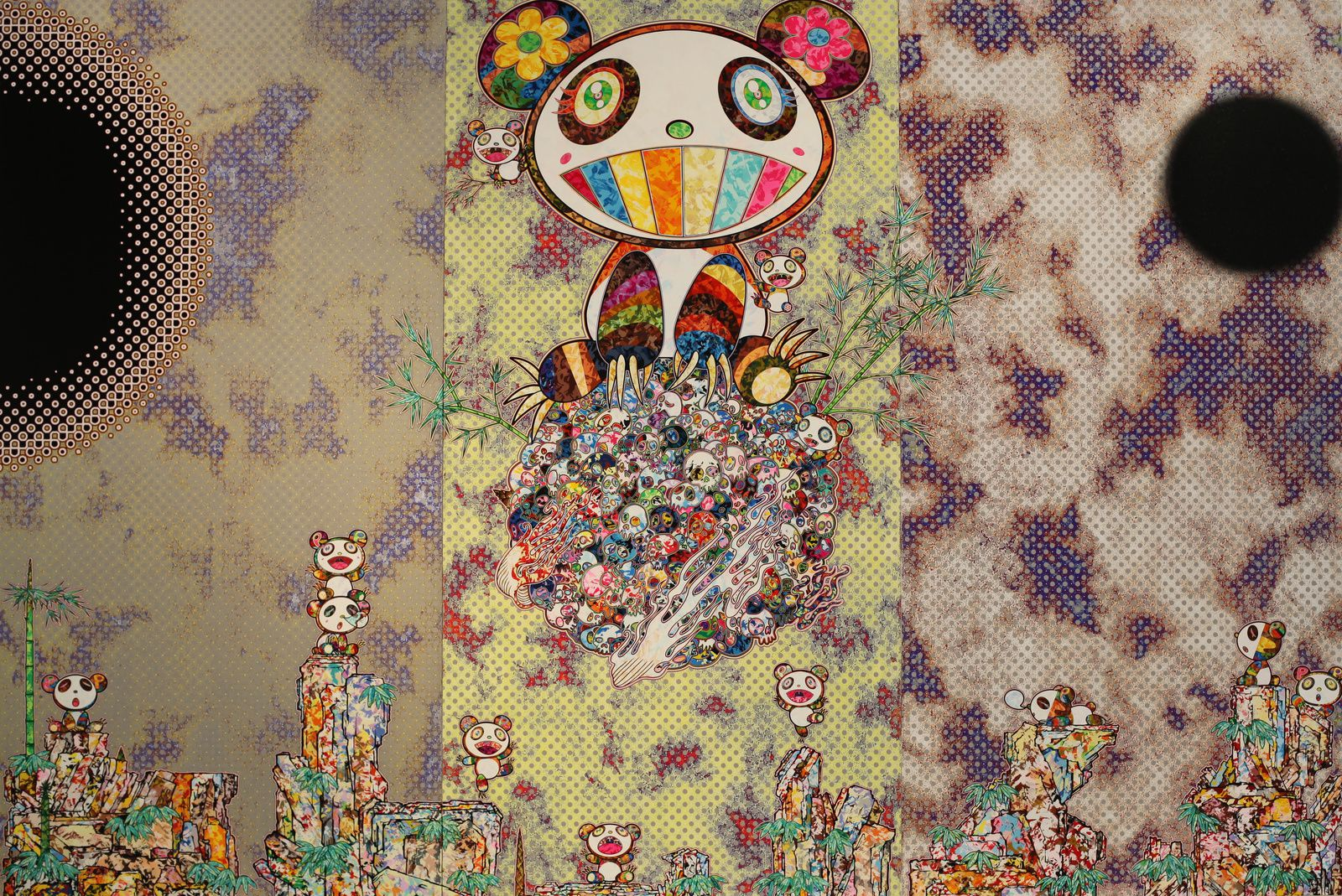"""Forest Companions"", 2017 de Takashi MURAKAMI - Courtesy FONDATION LOUIS VUITTON © Photo Éric Simon"