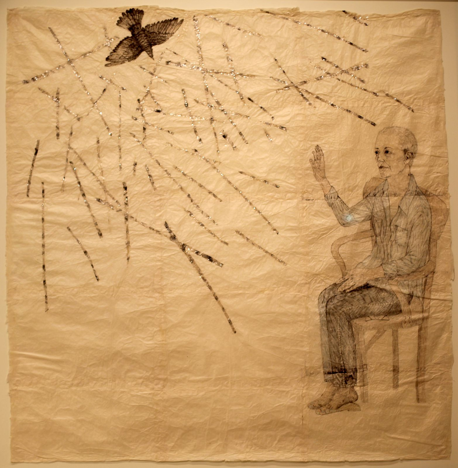 """Visitation of the Bird II"", 2007 de Kiki SMITH - Courtesy FONDATION LOUIS VUITTON © Photo Éric Simon"