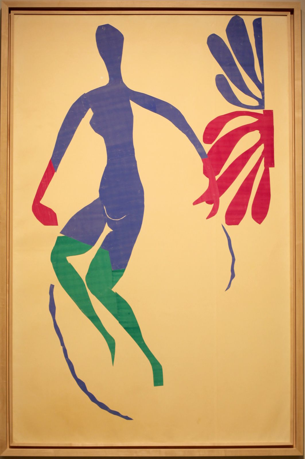 """Nu bleu aux bras verts"", 1952 de Henri MATISSE - Courtesy FONDATION LOUIS VUITTON © Photo Éric Simon"