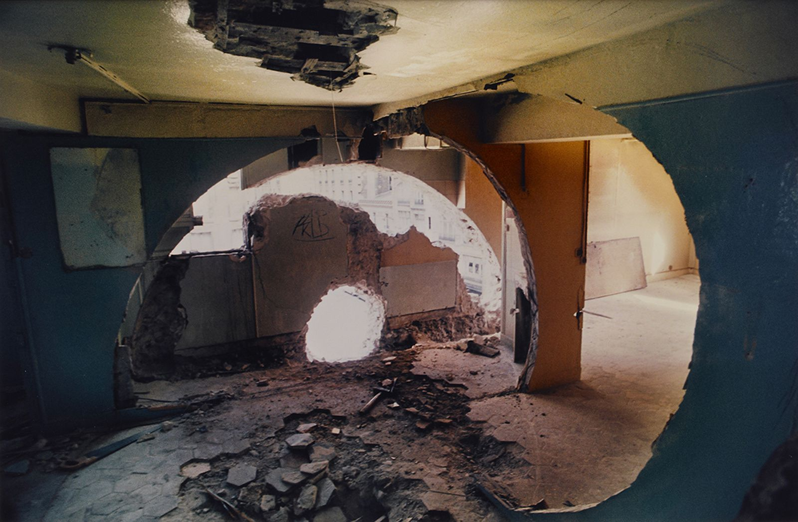"""Conical Intersect"", 1975 de Gordon MATTA-CLARK - Courtesy de l'Artiste"