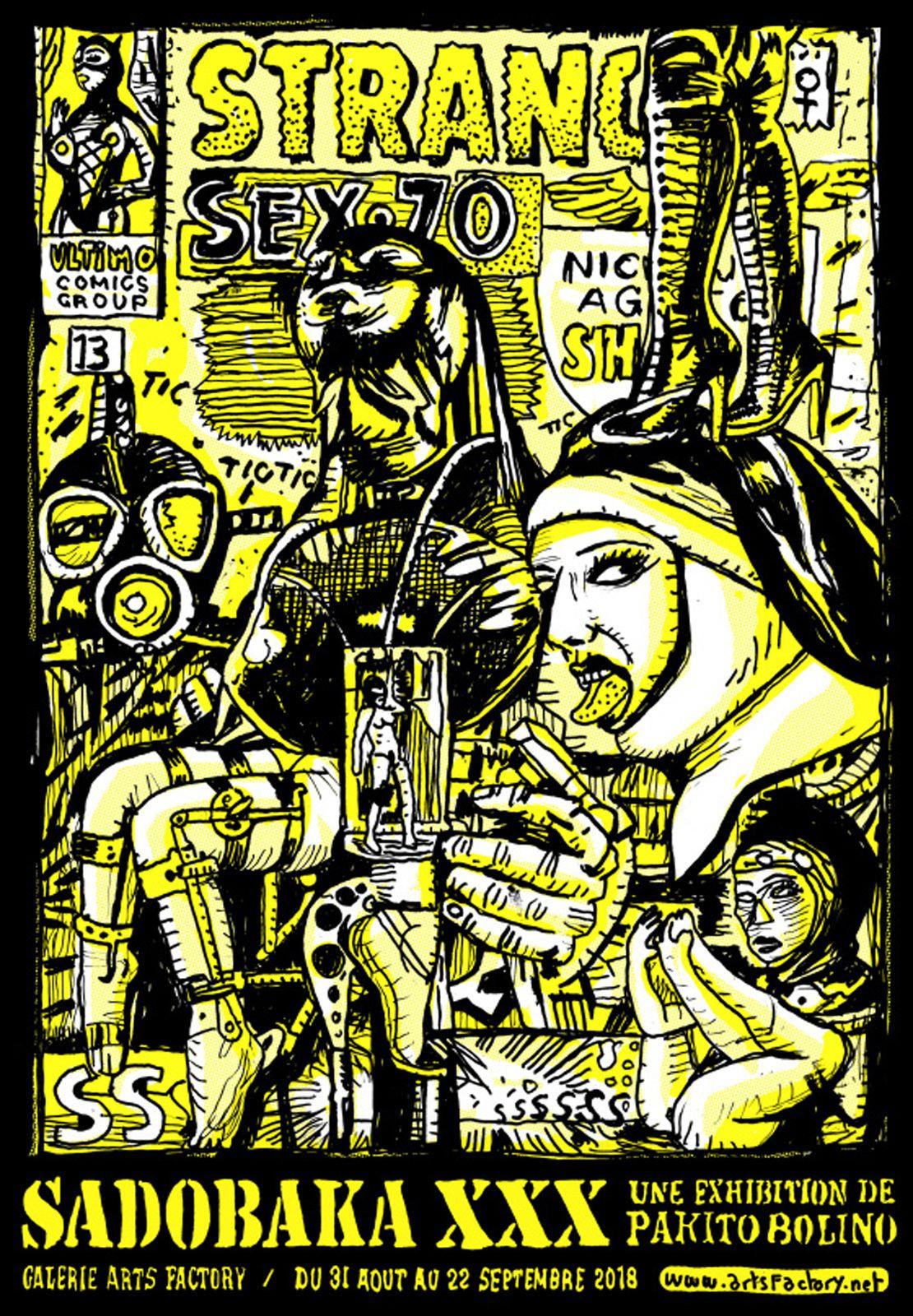 Exposition Illustration Contemporaine : PAKITO BOLINO « Sadobaka xxx »