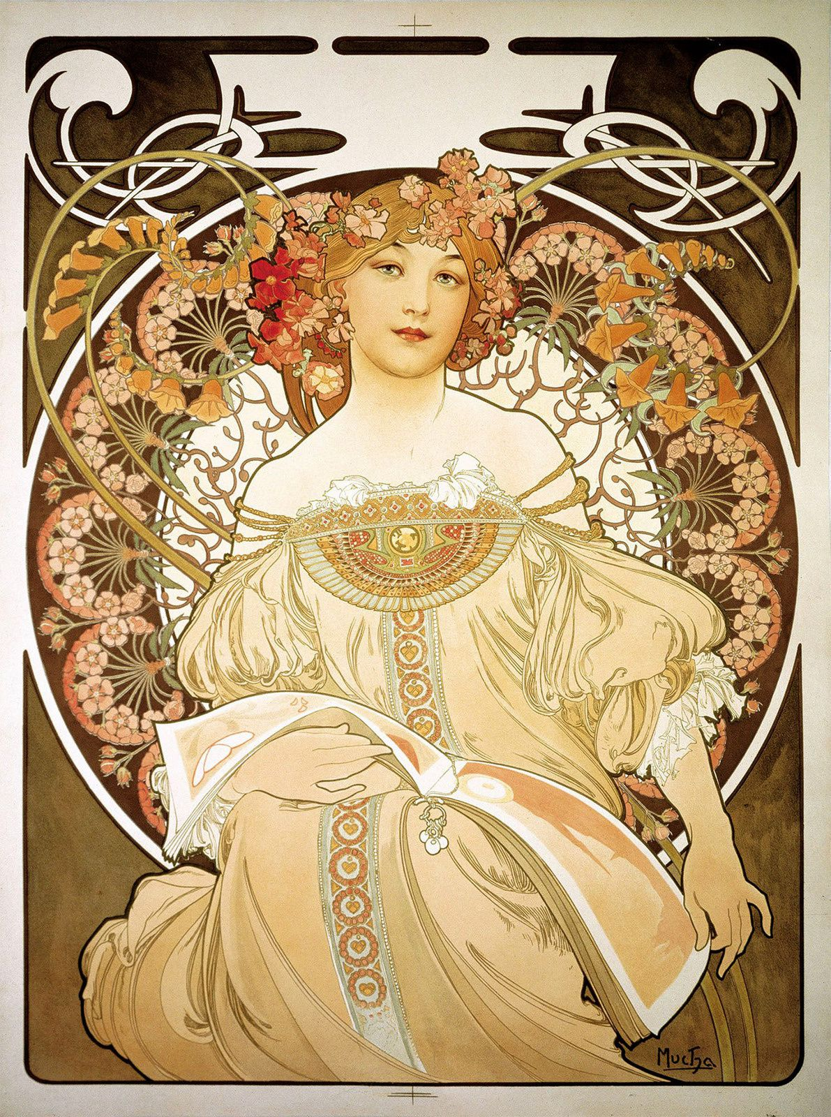 """Rêverie"", 1897 de Alphonse MUCHA. Prague, Fondation Much.  Mucha Trust 2018"