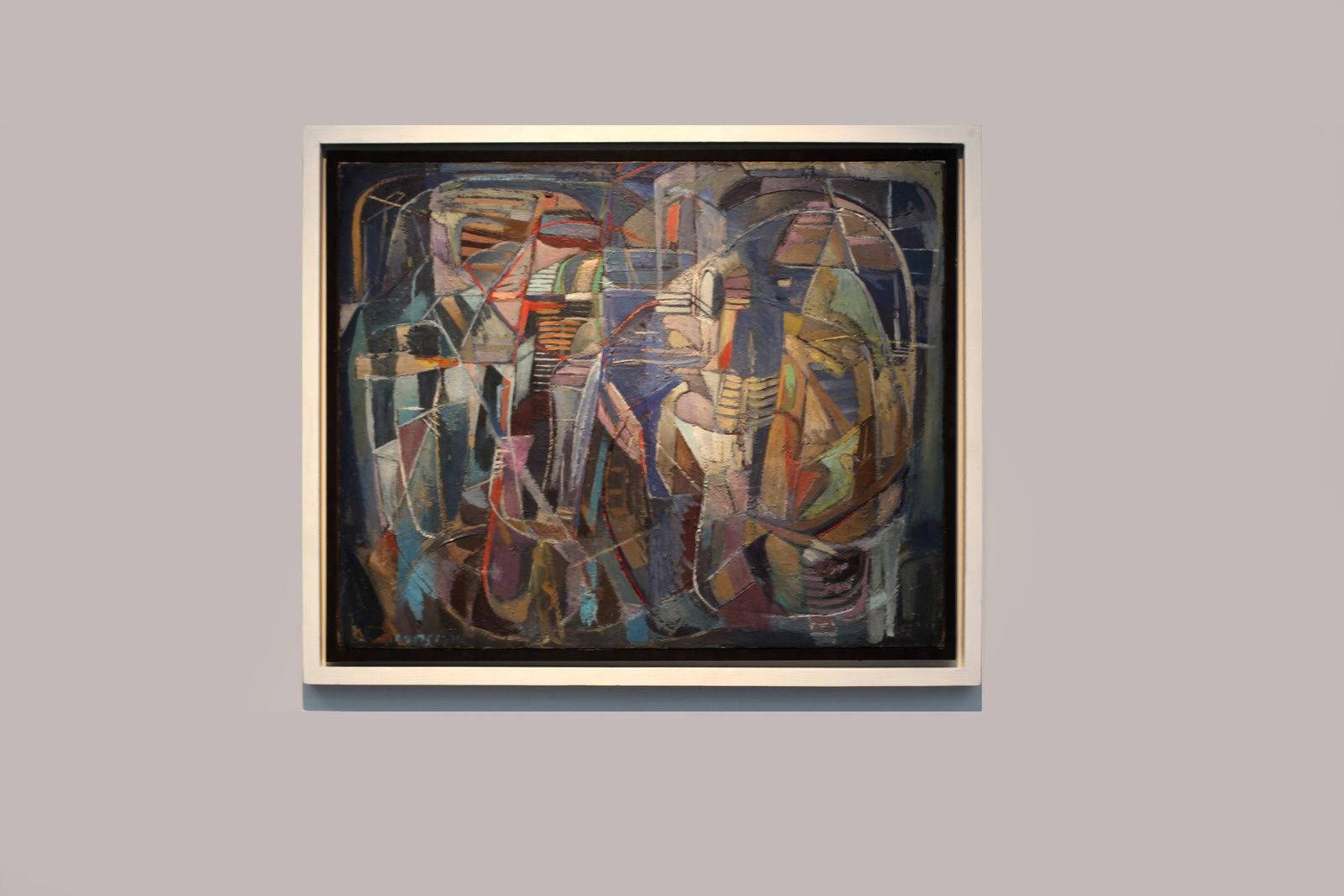 """Composition bleue"", 1946 de André LANSKOY - Courtesy Galerie Jeanne Bucher Jaeger © Photo Éric Simon"