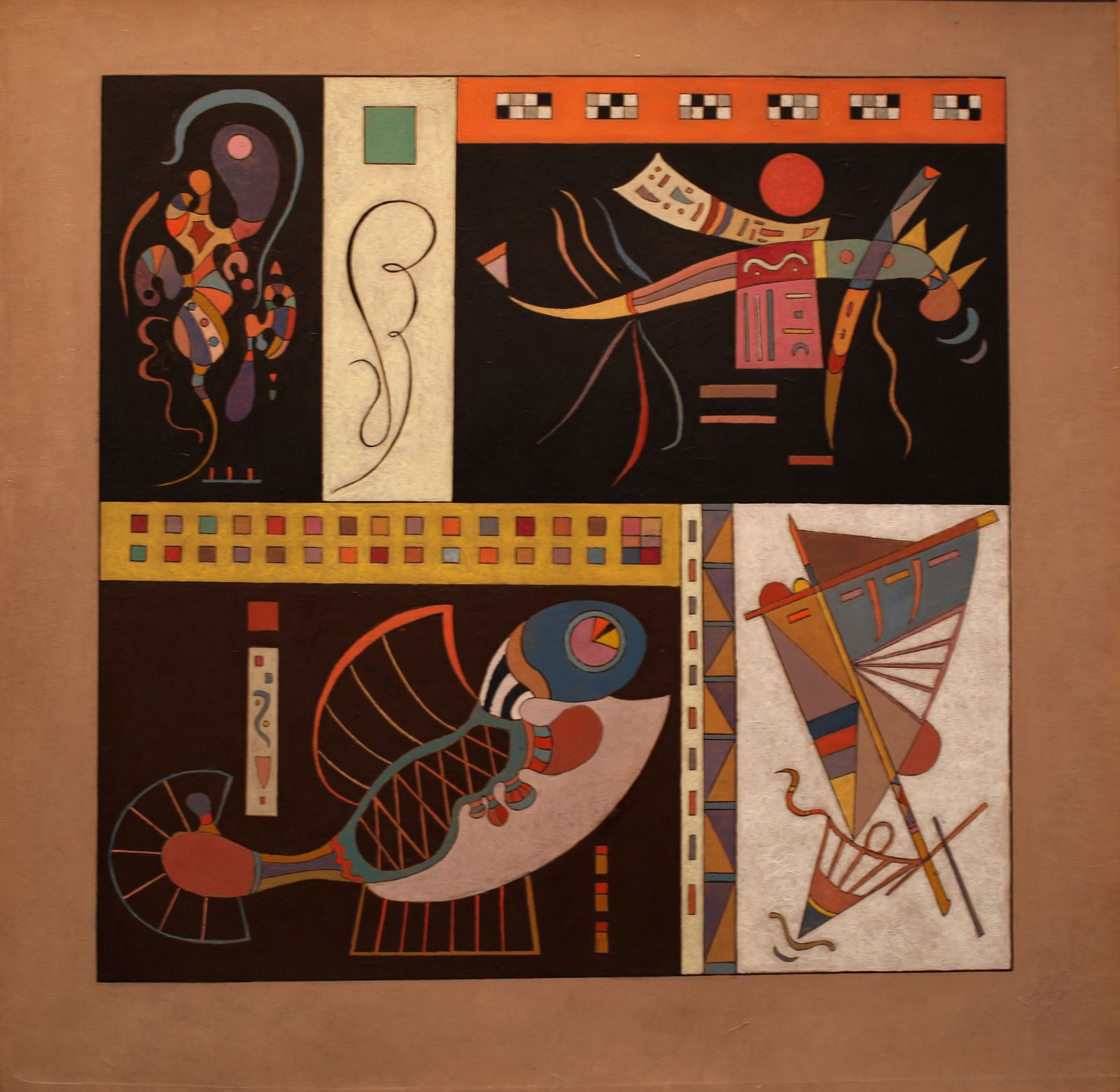 """Communauté"", 1942 de Vassily KANDINSKY - Courtesy Galerie Jeanne Bucher Jaeger © Photo Éric Simon"