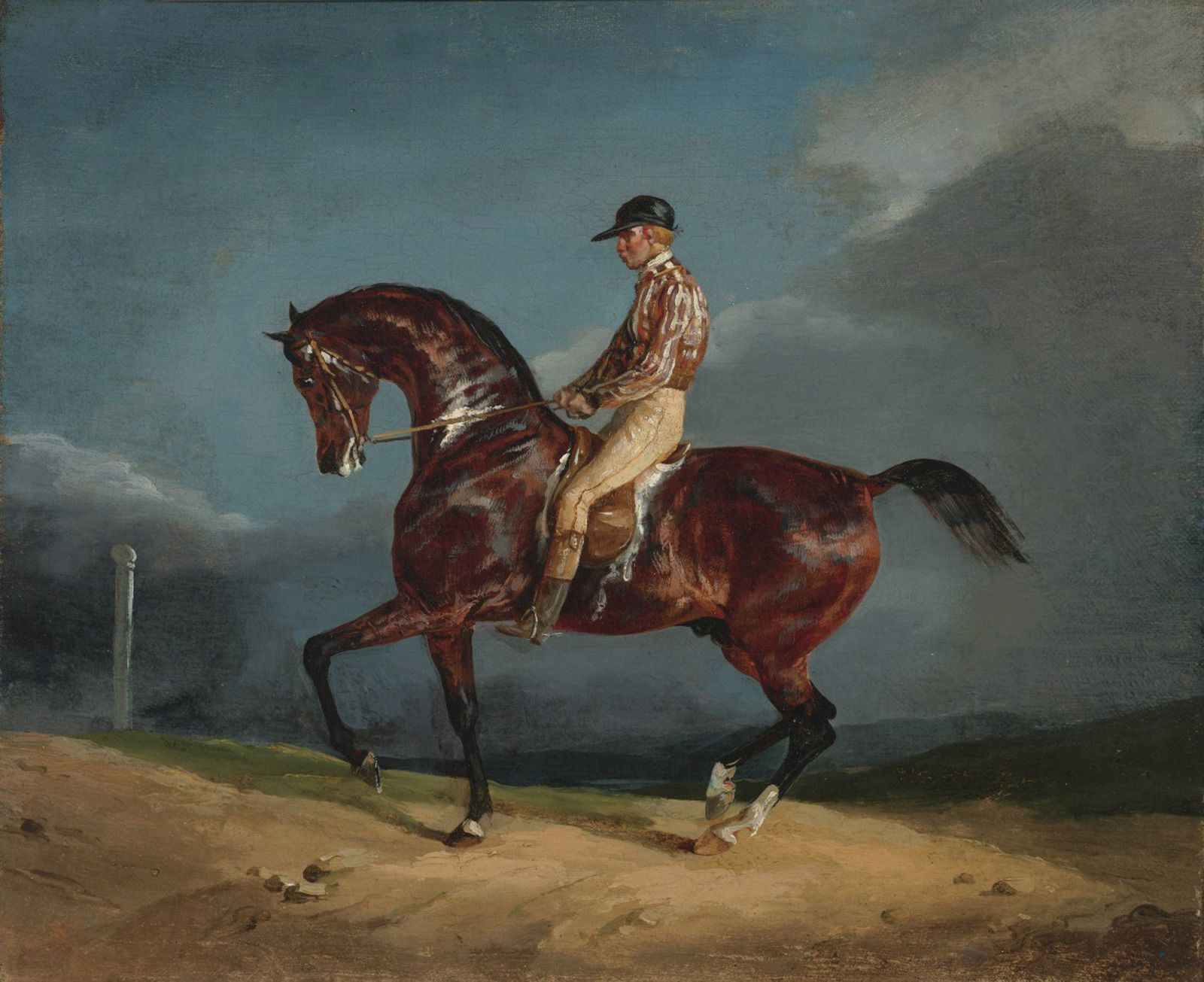 """Jockey montant un cheval de course, vers 1821-1822"" de Théodore GÉRICAULT - Courtesy The Paul Mellon Collection, Virginia Museum of Fine Arts © Photo Éric Simon"