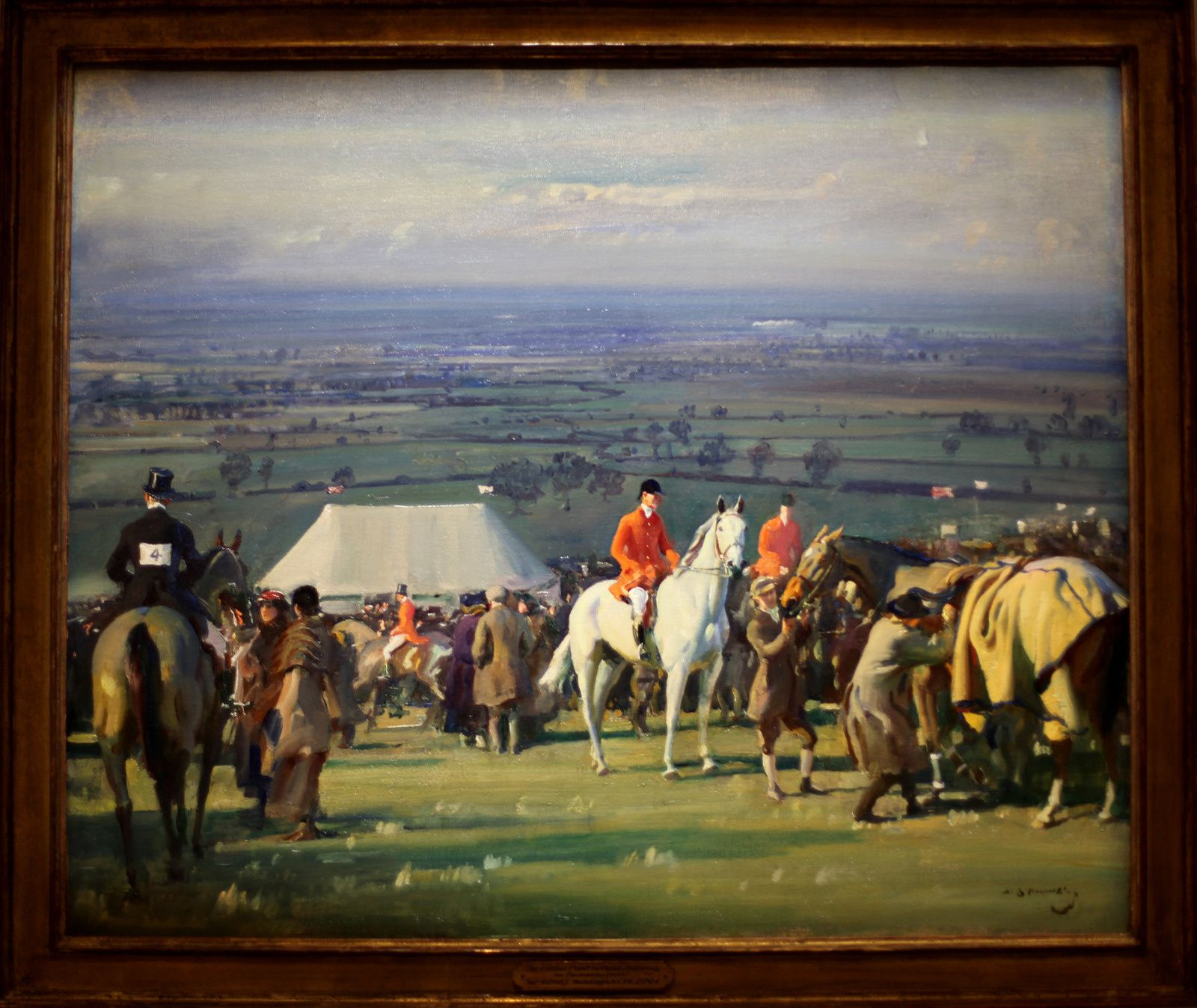 """La course du château de Belvoir à Borrowby Hill, peint depuis Woolsthorpe Manor"", 1920-1921 de Alfred James MUNNINGS  - Courtesy The Paul Mellon Collection, Virginia Museum of Fine Arts © Photo Éric Simon"