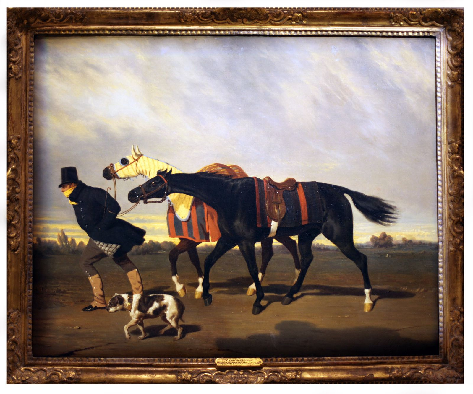 """Le retour de la course sous le vent"", 1838 de Alfred DE DREUX - Courtesy The Paul Mellon Collection, Virginia Museum of Fine Arts © Photo Éric Simon"