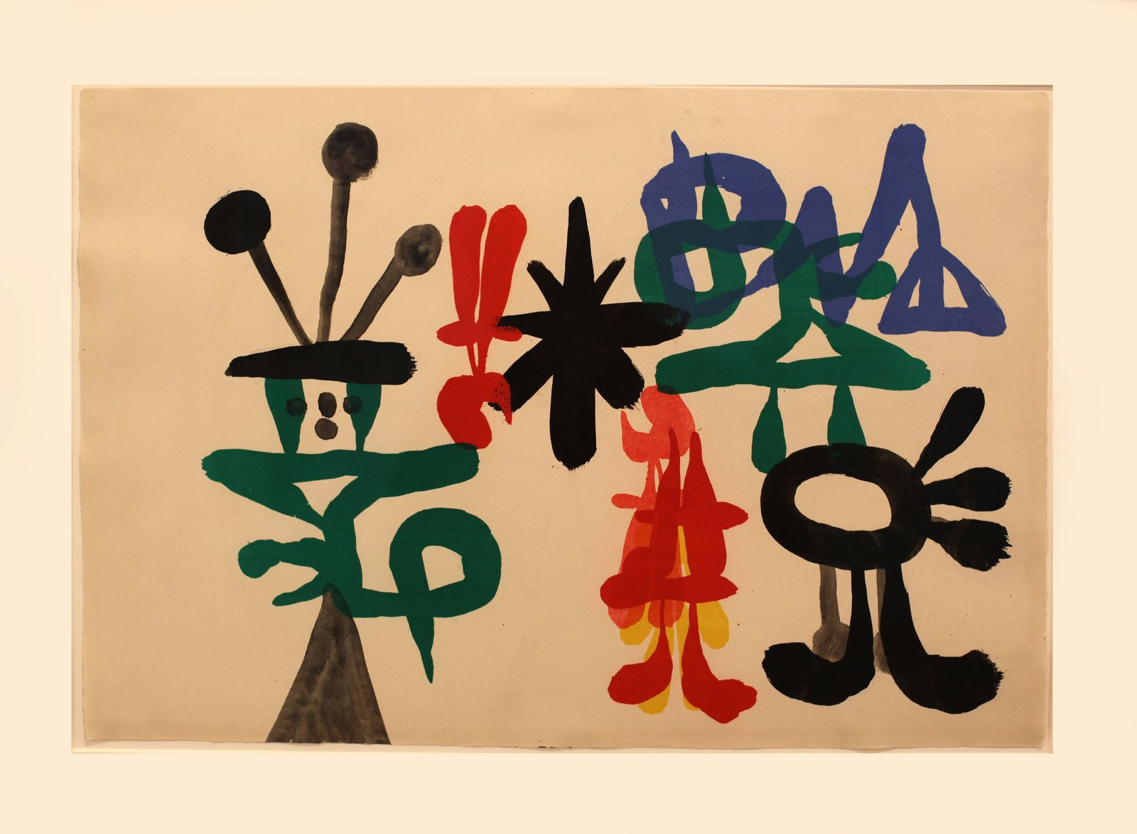 """Deux personnages"", 1938 de Joan MIRO - Courtesy Galerie Lelong & Co. Paris © Photo Éric Simon"
