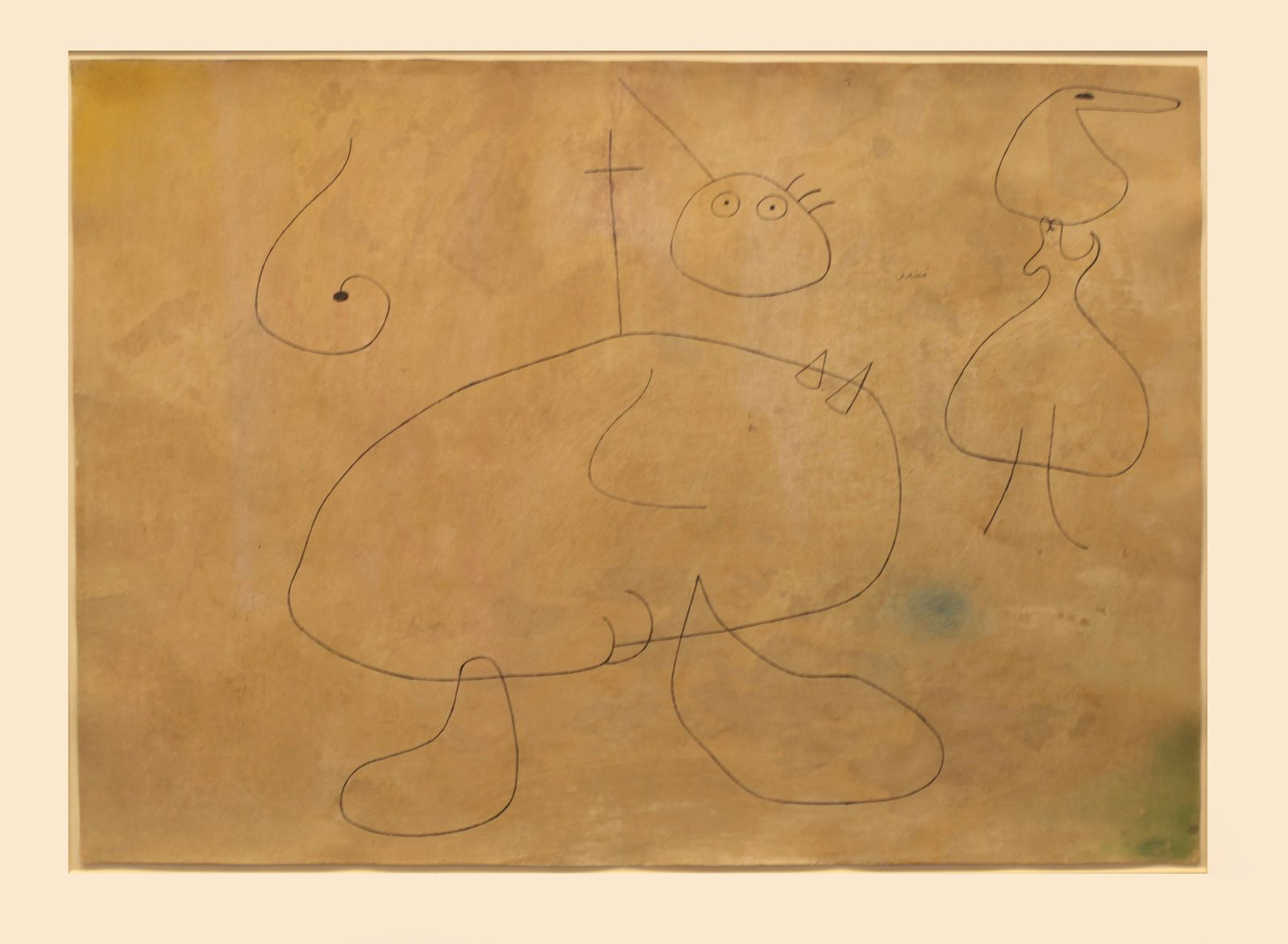 """Femme devant l'horizon"", 1942 de Joan MIRO - Courtesy Galerie Lelong & Co. Paris © Photo Éric Simon"