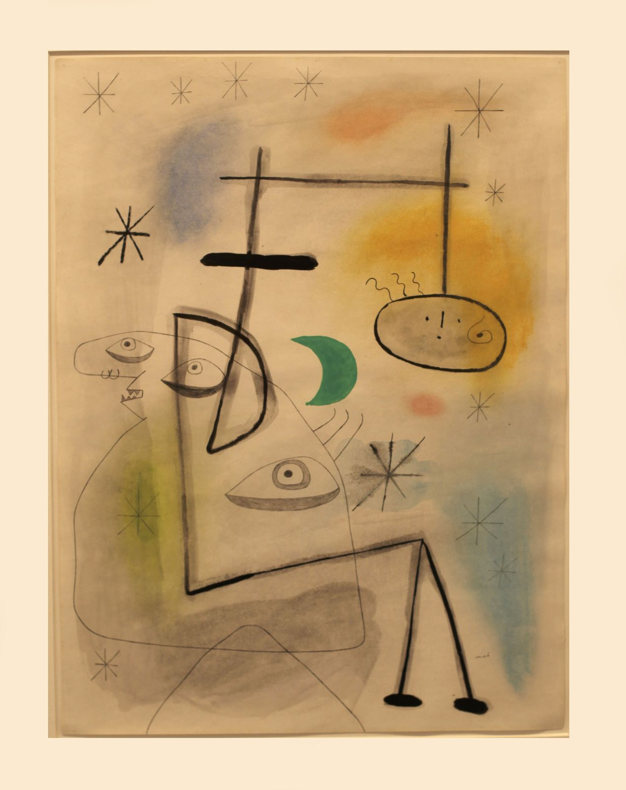 """Figures devant la lune"", 1942 de Joan MIRO - Courtesy Galerie Lelong & Co. Paris © Photo Éric Simon"