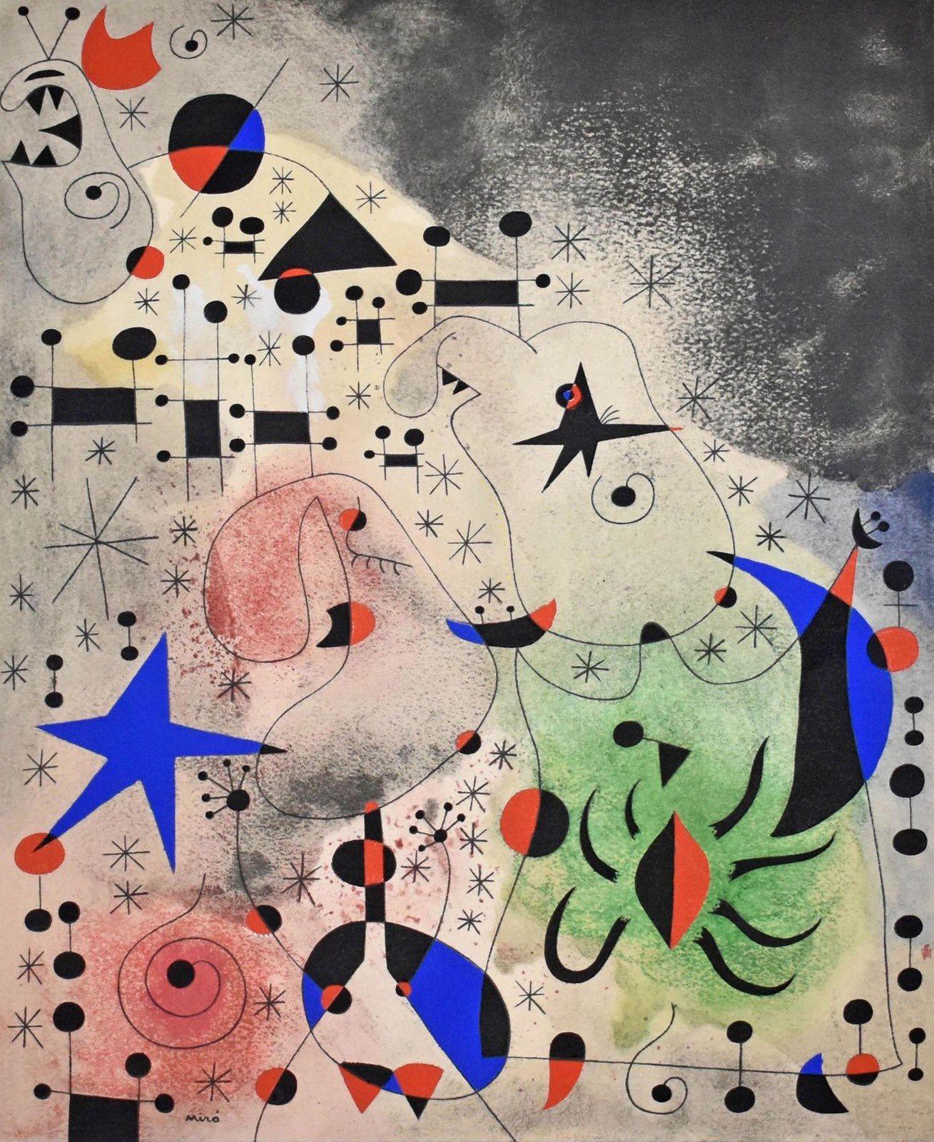 """""""L'Oiseau migrateur"""", 26 mai 1941 de Joan Miró - Courtesy Collection particulière.  Successió Miró - Adagp"""