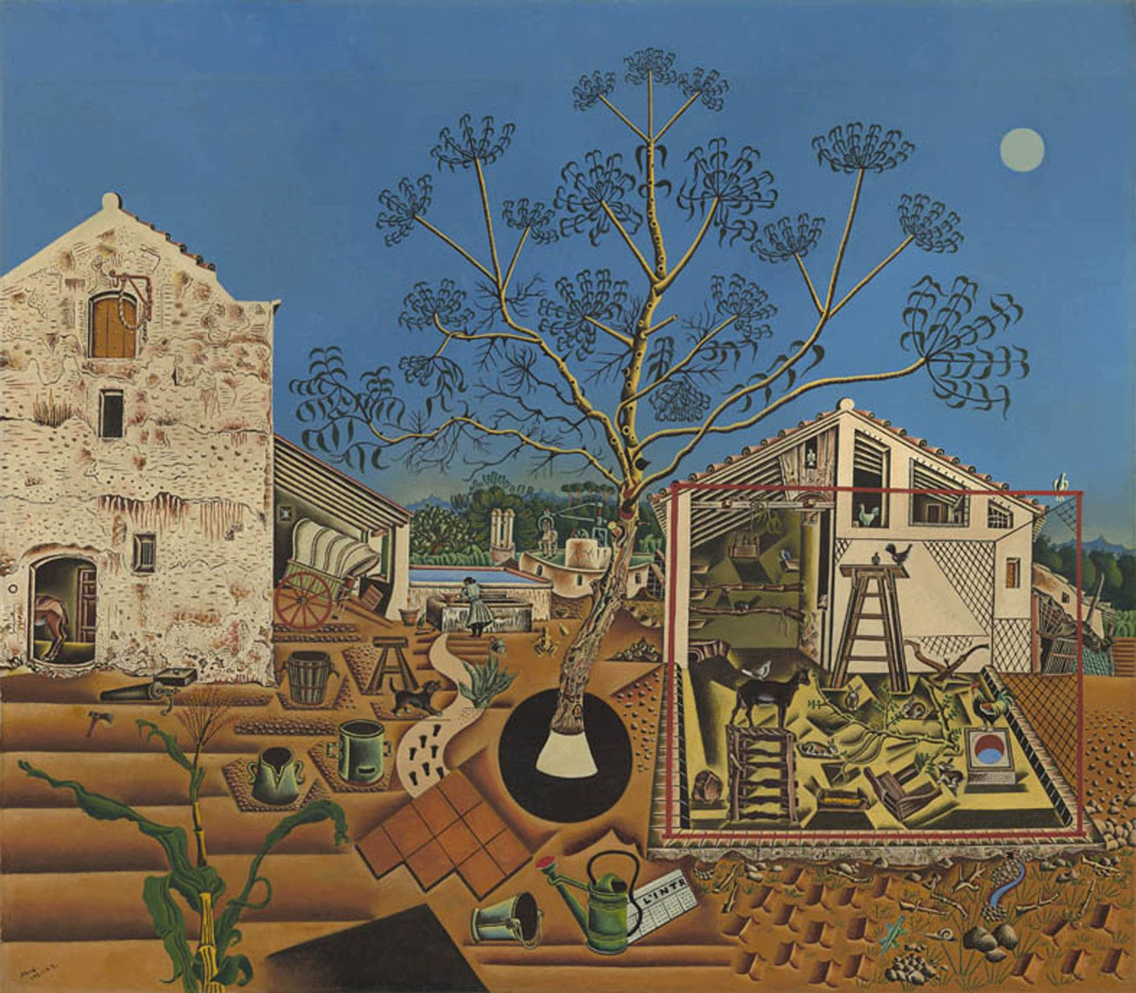 """La Ferme"",  1921-1922 de Joan MIRO - Washington, NG. © Successió Miró _ Adagp, Paris, 2018. National Gallery of Art, Washington"