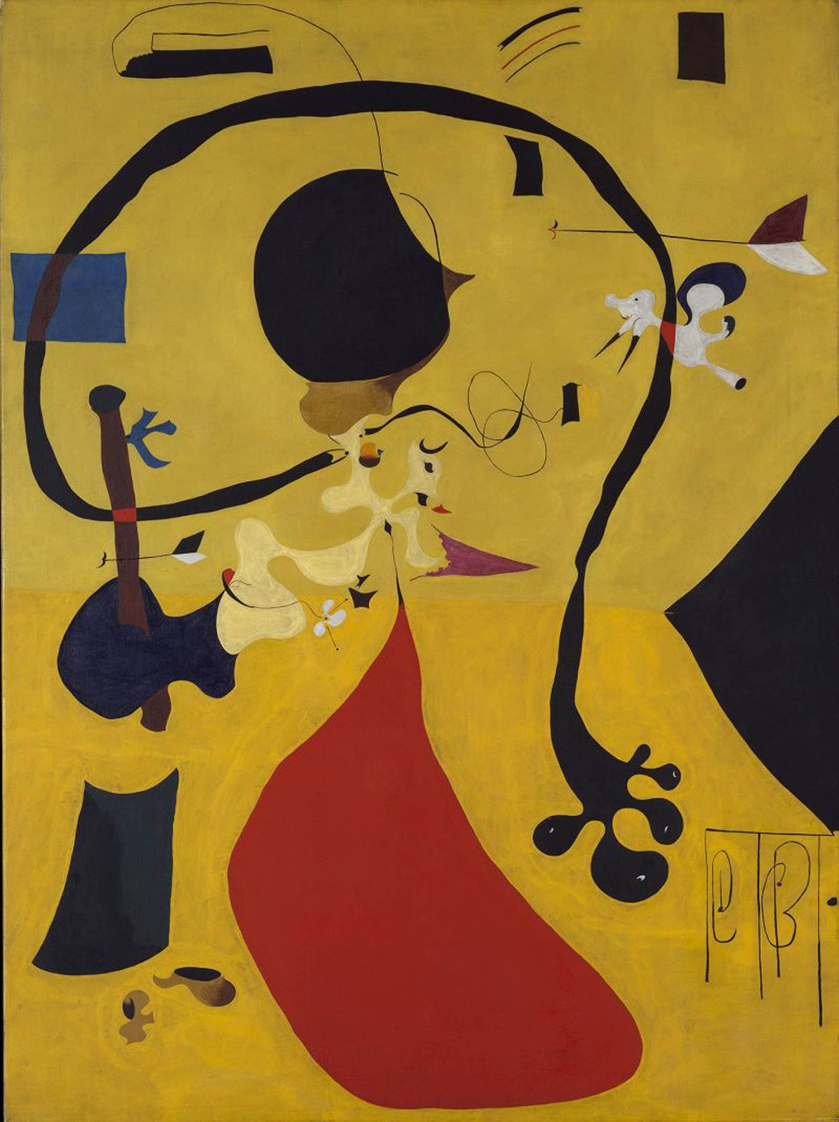 """Intérieur hollandais (III)"",  1928 de Joan MIRO - Courtesy SUCCESSION Miró_ ADAGP PARIS (THE METROPOLITAN MUSEUM OF ART)"