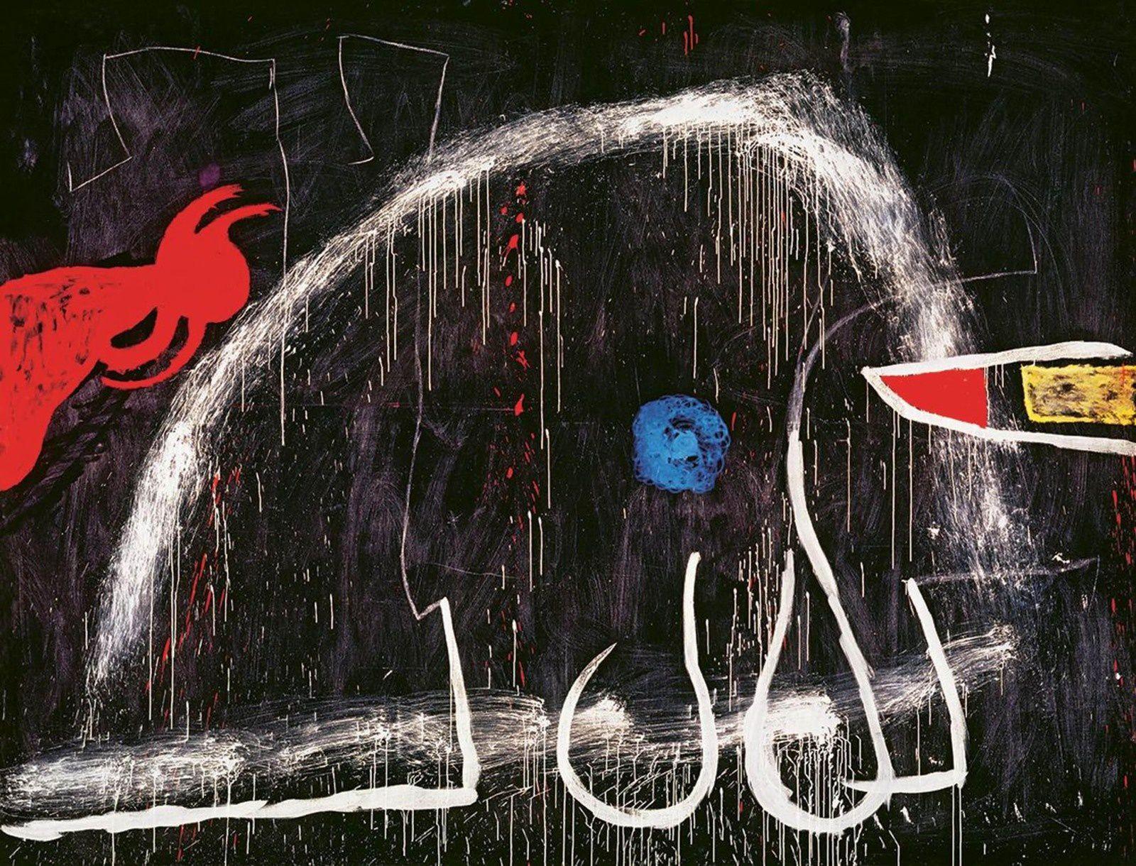 """""""Peinture"""", vers 1973 de Joan Miró - Espagne, Palma de Majorque.  Successió Miró."""