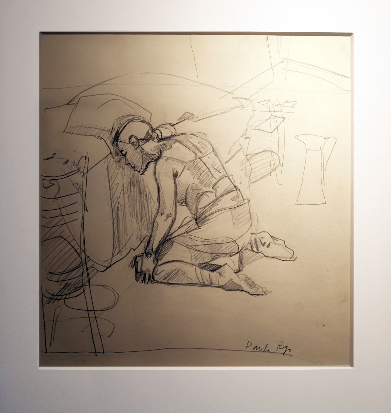 """Study for Abortion 1"", 1999 de Paula REGO - Courtesy Galerie Sophie Scheidecker © Photo Éric Simon"