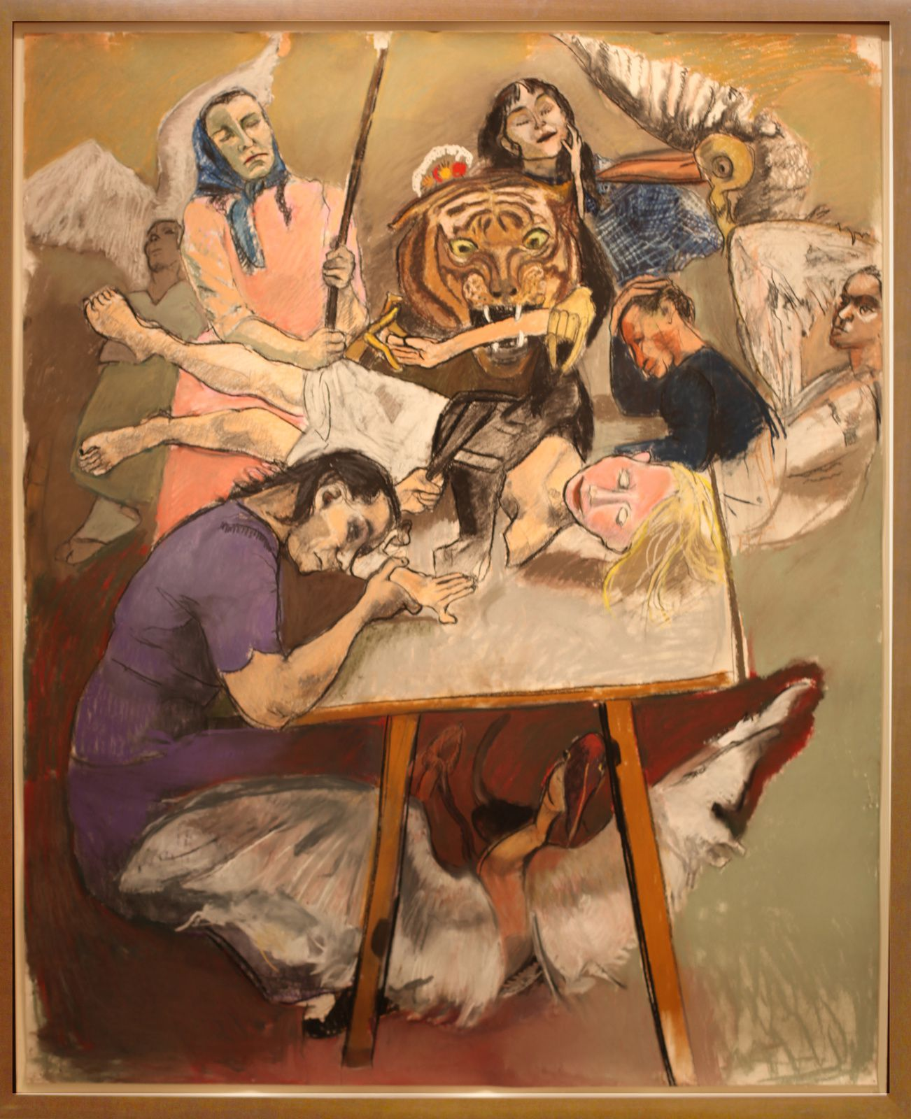 """The Birthday Party"", 2010 de Paula REGO - Courtesy Galerie Sophie Scheidecker © Photo Éric Simon"