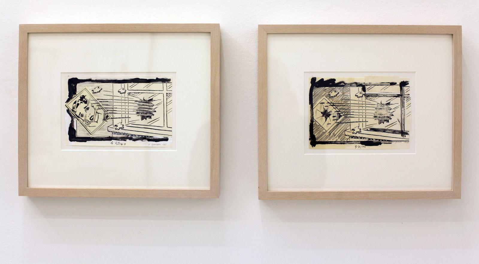 """""""Out of the window 1 et 2"""", 1984 - 1988 de Steve GIANAKOS - Courtesy Galerie Sémiose © Photo Éric Simon"""