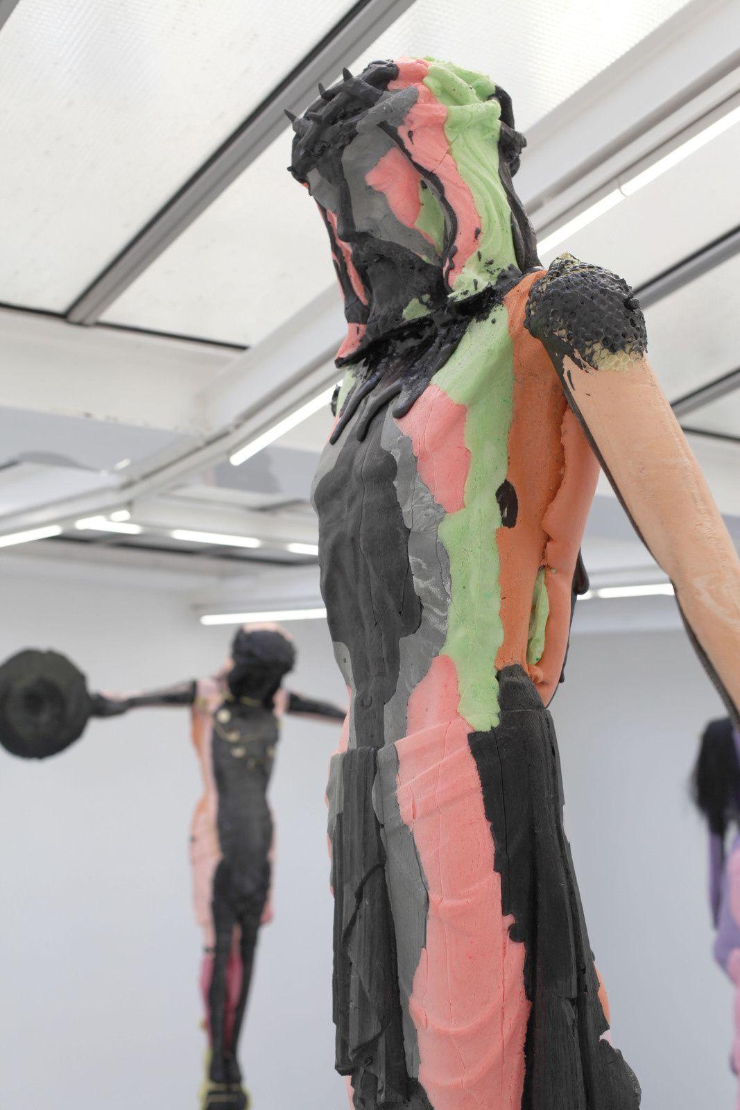 """Golgotha"", 2018 de Folkert De JONG - Courtesy Galerie Chez Valentin © Photo Éric Simon"