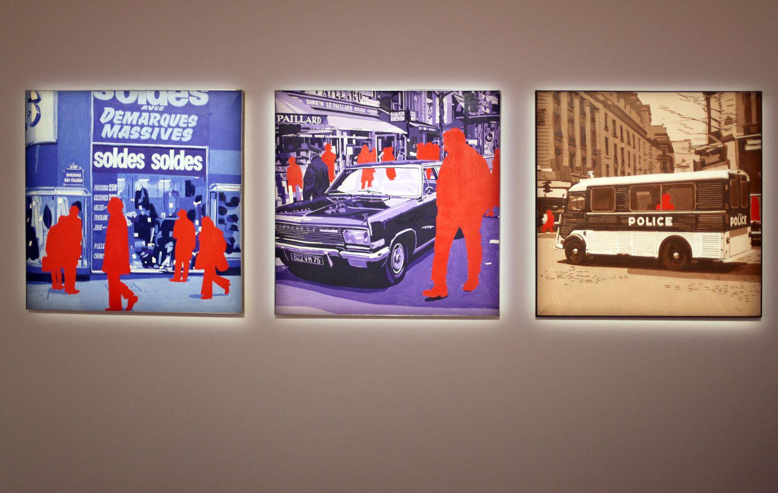 """""""Boulevard des Italiens"""", """"Salon de thé"""" et """" Le Rouge"""", 1971 de Gérard FROMANGER  © Photo Éric Simon"""