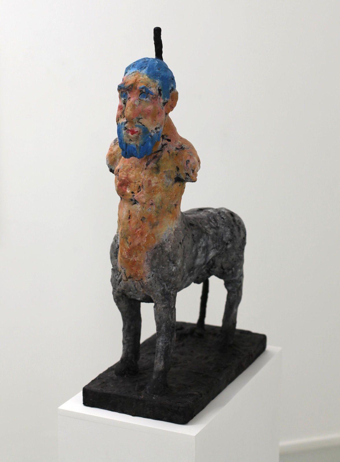 """""""Kentaur"""", 2018 de Markus LÜPERTZ - Courtesy Galerie Suzanne TARASIEVE © Photo Éric Simon"""