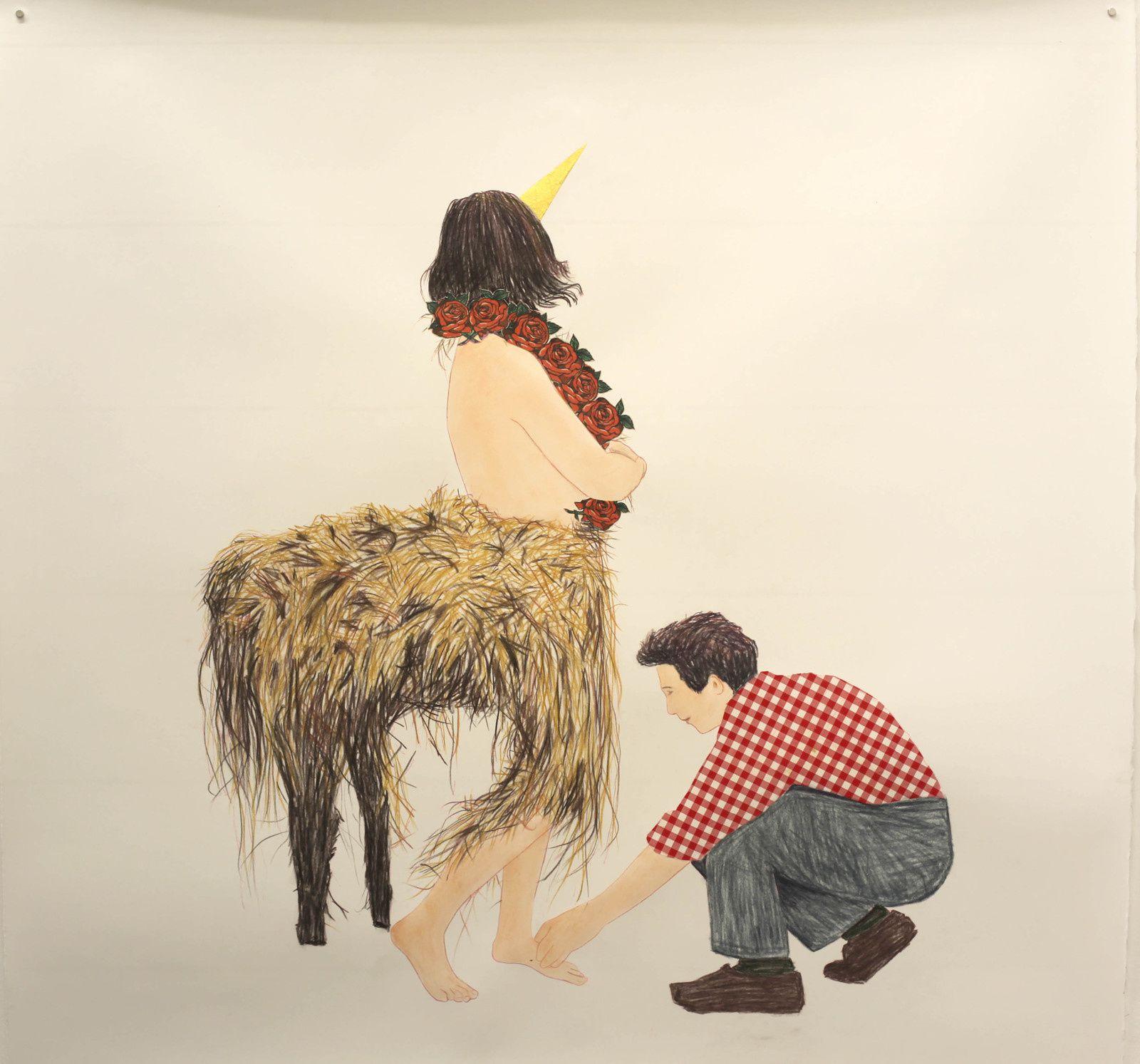 """Centaur Costume"", 2018 de Blaise DRUMMOND - Courtesy Galerie Loevenbruck © Photo Éric Simon"