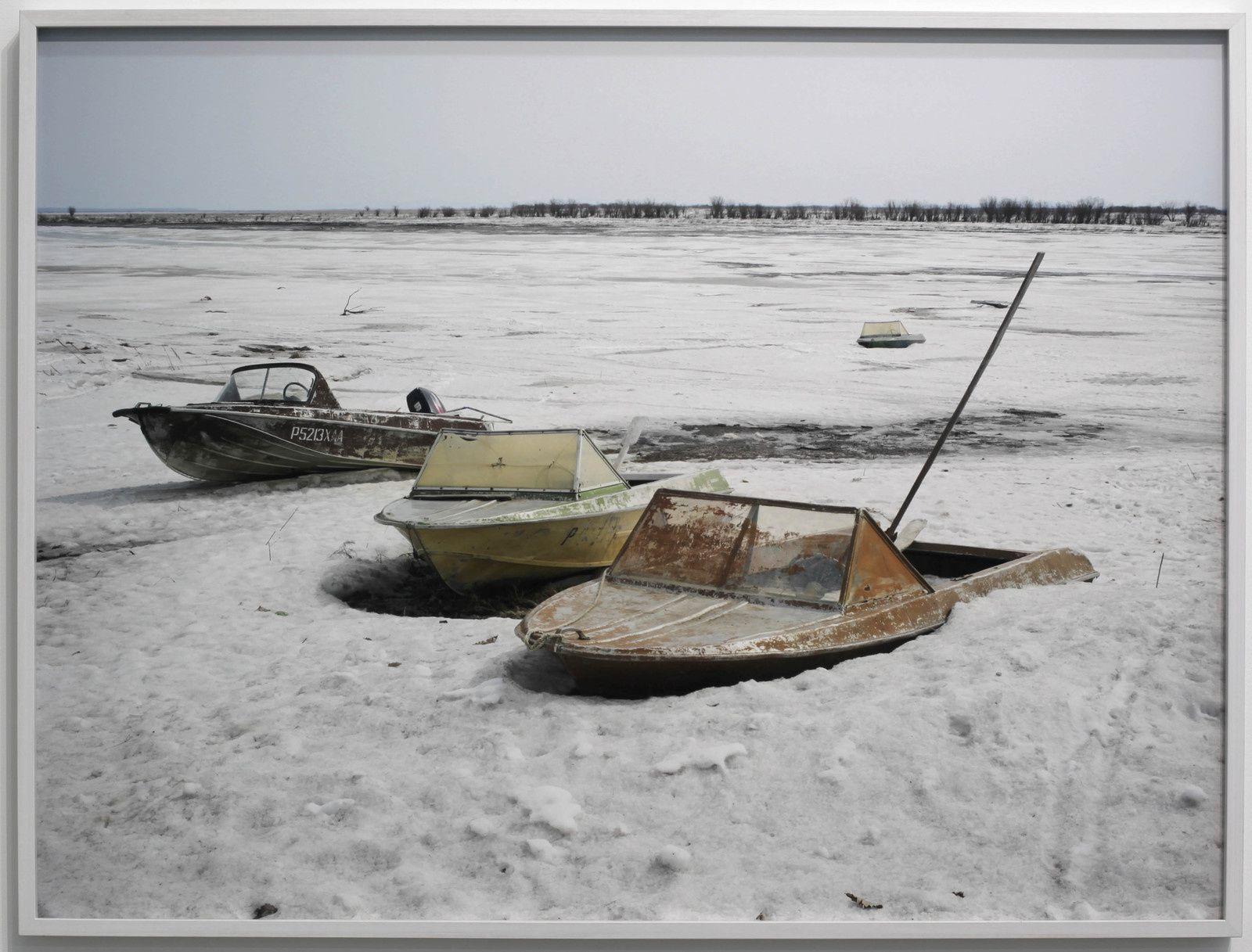 """Série Odysée sibérienne """"Le fleuve Amour, Nergen"""", 2018 de Claudine DOURY - Courtesy Galerie Particulière"""