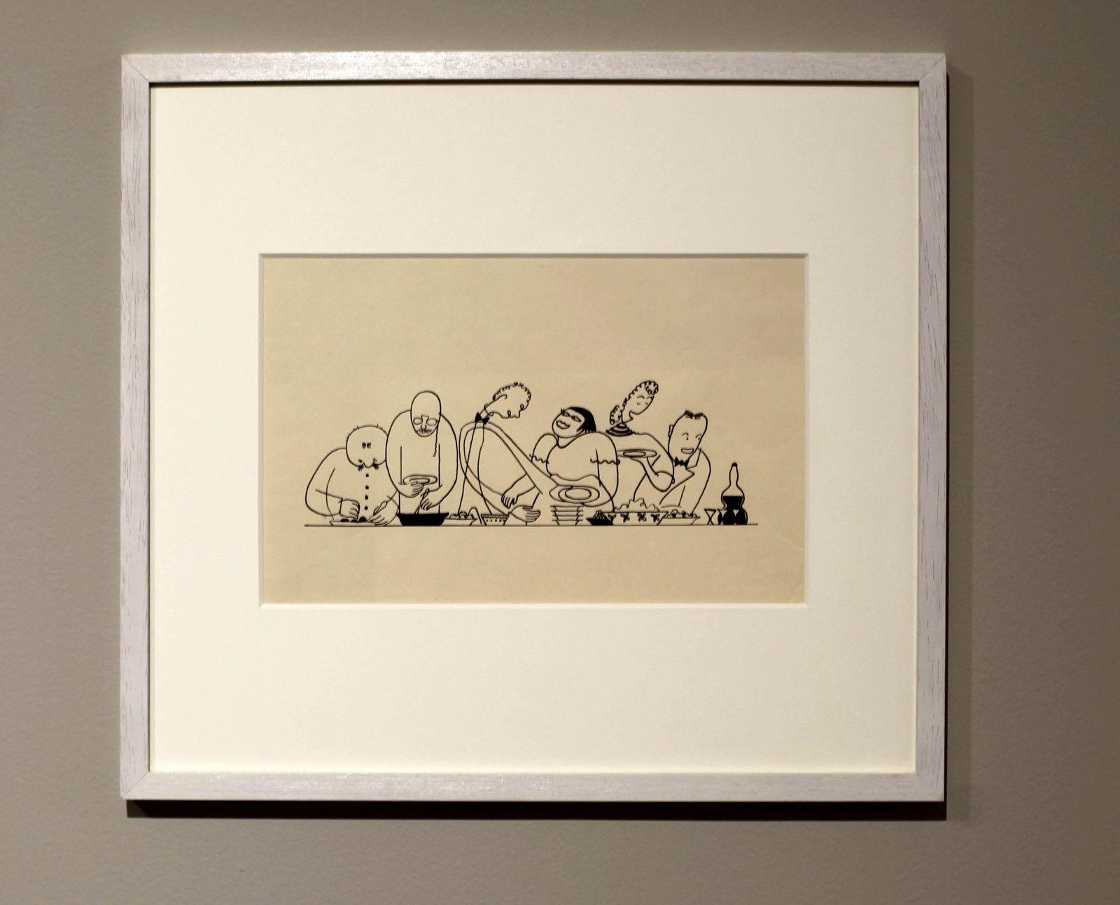 """Illustration du livre """"Casseroles - Recettes du monde entier"""", 1938 Anna-Eva BERGMAN - Courtesy Galerie Jérôme Poggi et la Fondation Hartung/Bergman © Photo Éric Simon"""