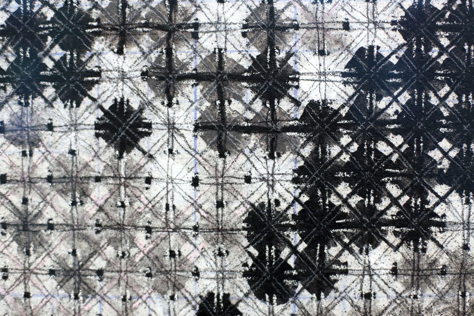 """Détail """"Appearance of Crosses"""" de Ding YI - Courtesy  Galerie KARSTEN GREVE PARIS © Photo Éric Simon"""