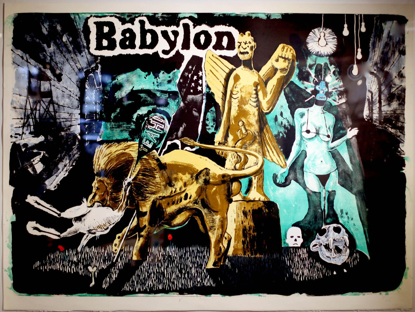 """Babylon"", 2017 de Damien DEROUBAIX - Courtesy Galerie Art Factory © Photo Éric Simon"