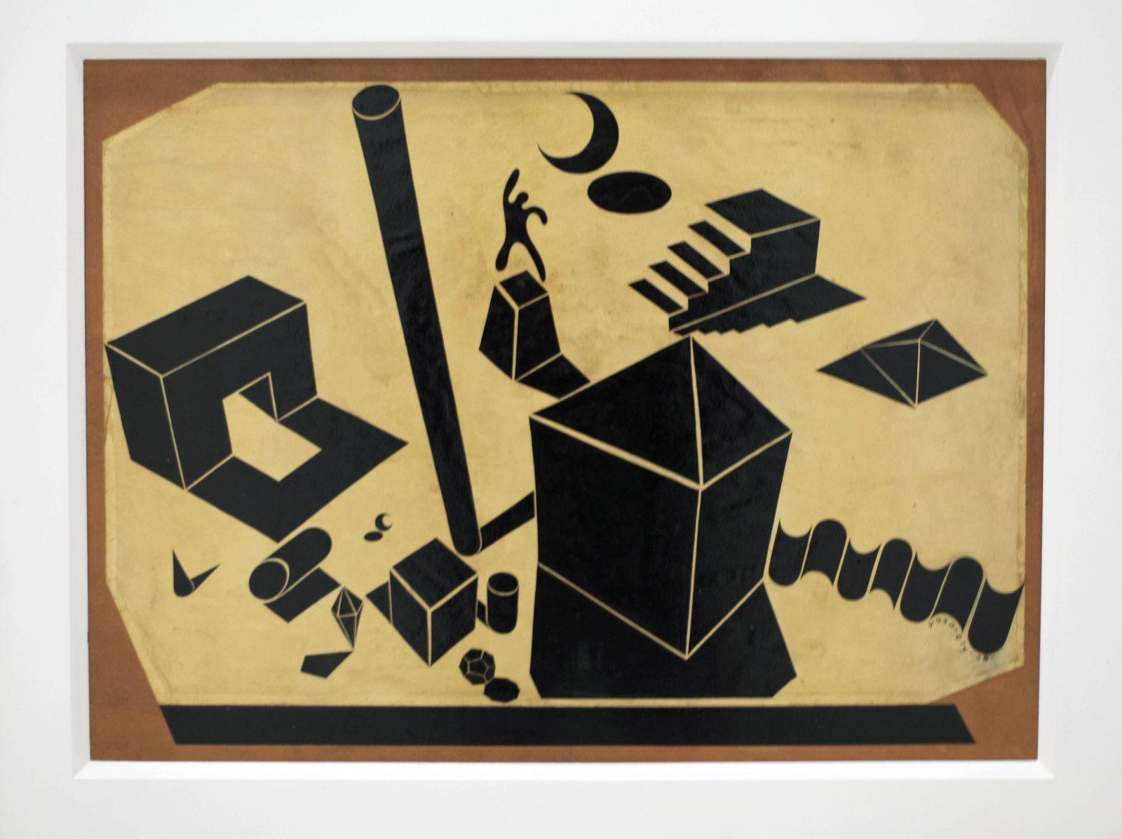 """""""Étude tridimensionnelle"""", 1938 de Victor VASARELY - Courtesy à la Fondation Vasarely, Aix-en-Provence © Photo Éric Simon"""