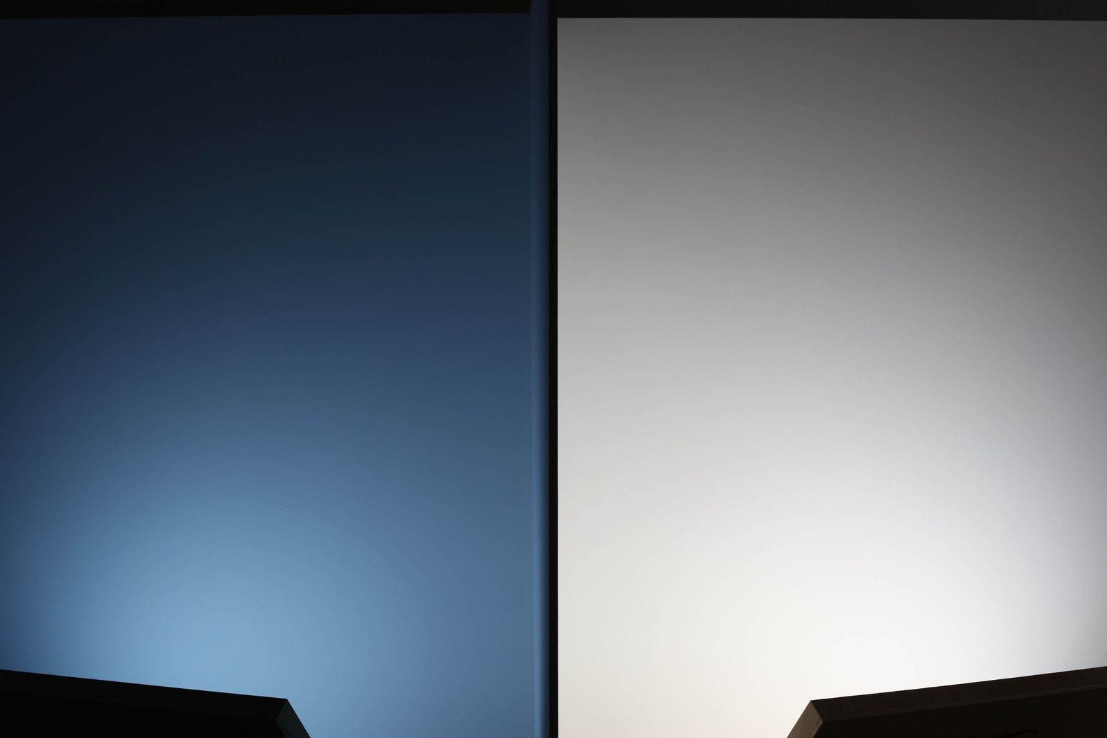 """Installation Lumineuse """"Équinoxe moins deux minutes"""", 2015 de Sébastien CABOUR et Pauline DELWAULLE - Courtesy des artistes © Photo Éric Simon"""