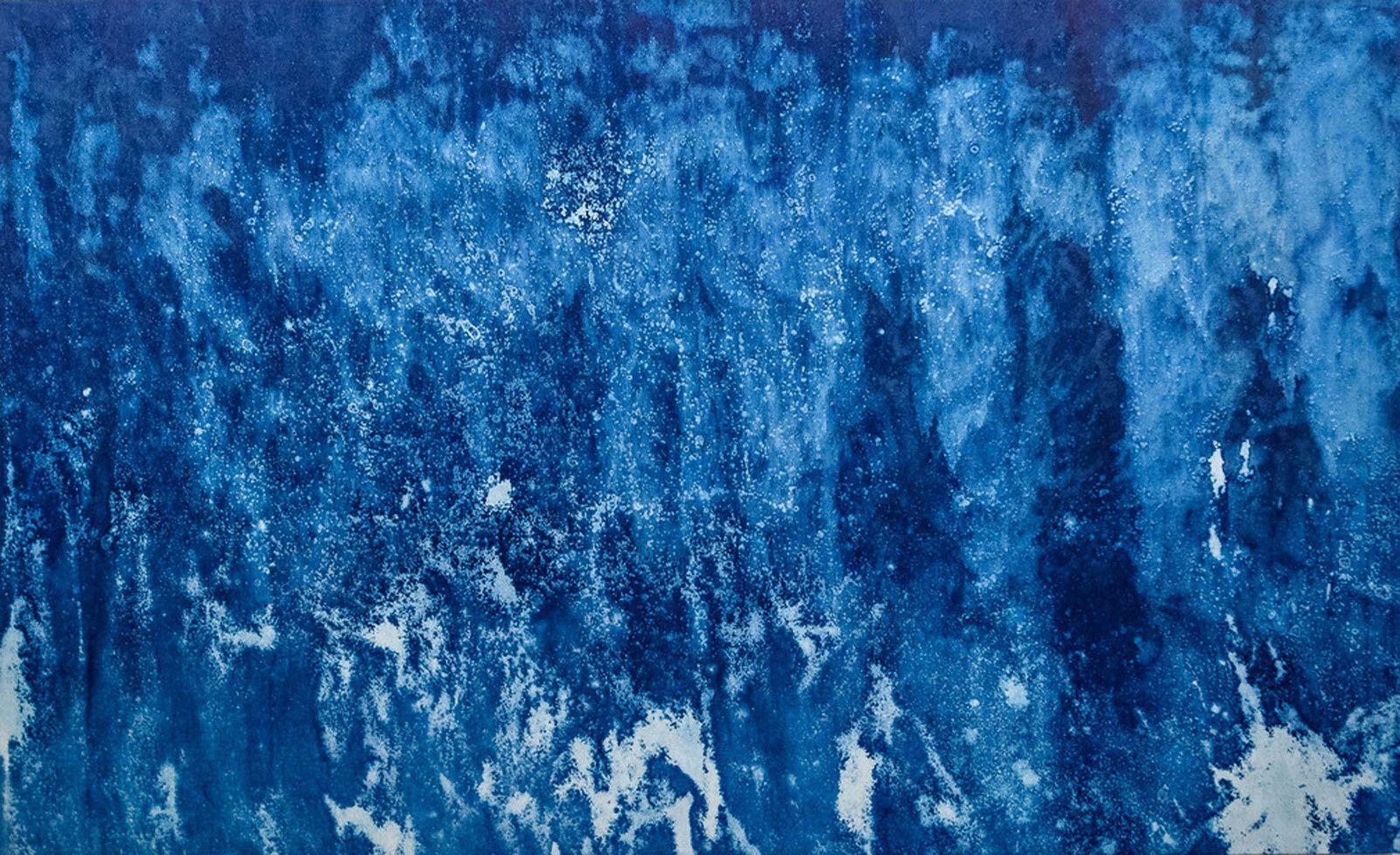"""""""Cyanotype #01 - Benodet"""", 2018 de  William GAYE - Topographie de l'Art"""