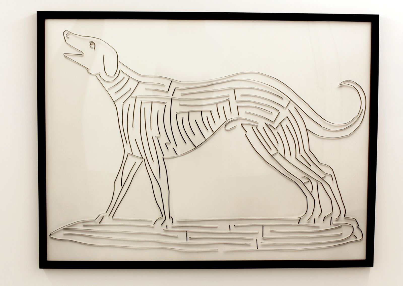 """Dog, after Francesco Segalla"", 2001 de Vik MUNIZ - Courtesy Galerie XIPPAS Paris © Photo Éric Simon"