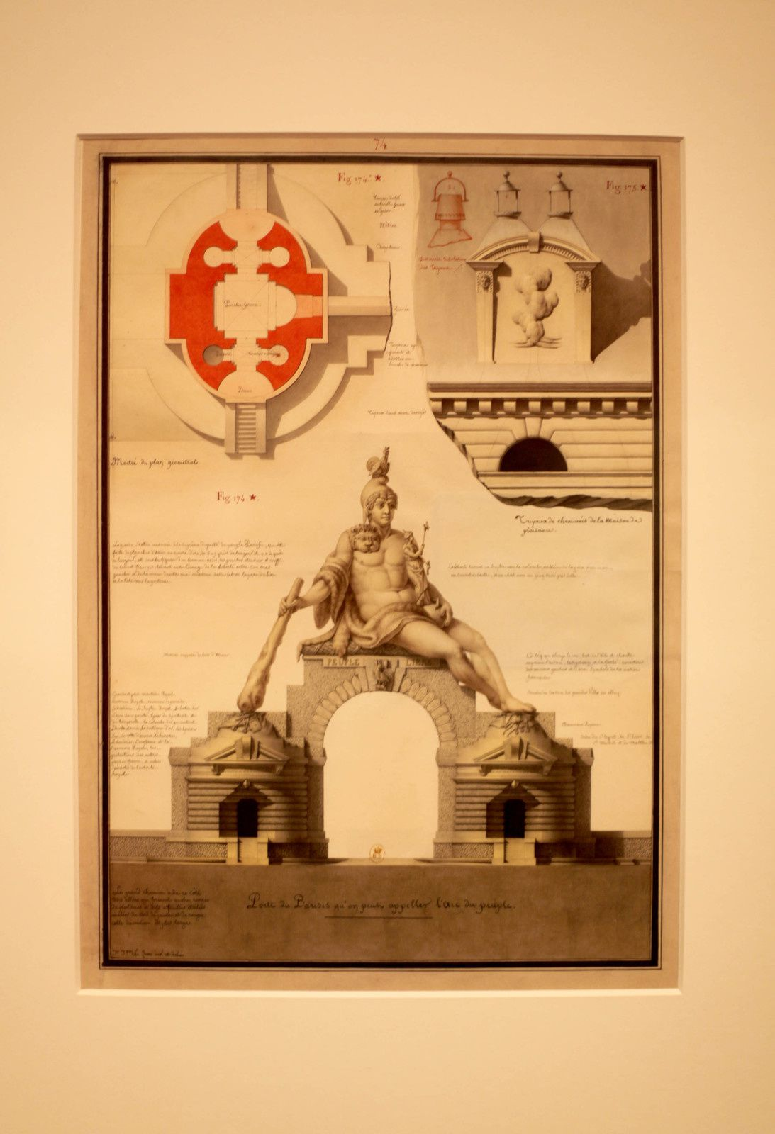 """Porte du Parisis"", 1794 de Jean-Jacques LEQUEU - Courtesy le Petit Palais © Photo Éric Simon"