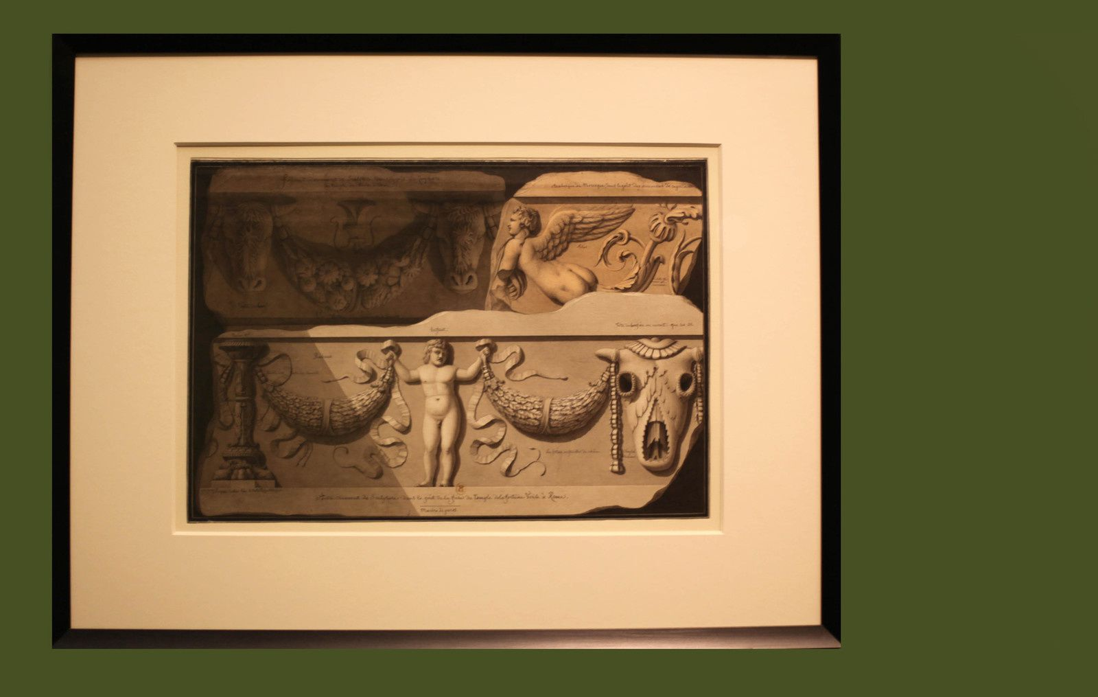 """Études d'ornement, motifs d'architecture antique"", 1794 - 1795  de Jean-Jacques LEQUEU - Courtesy le Petit Palais © Photo Éric Simon"