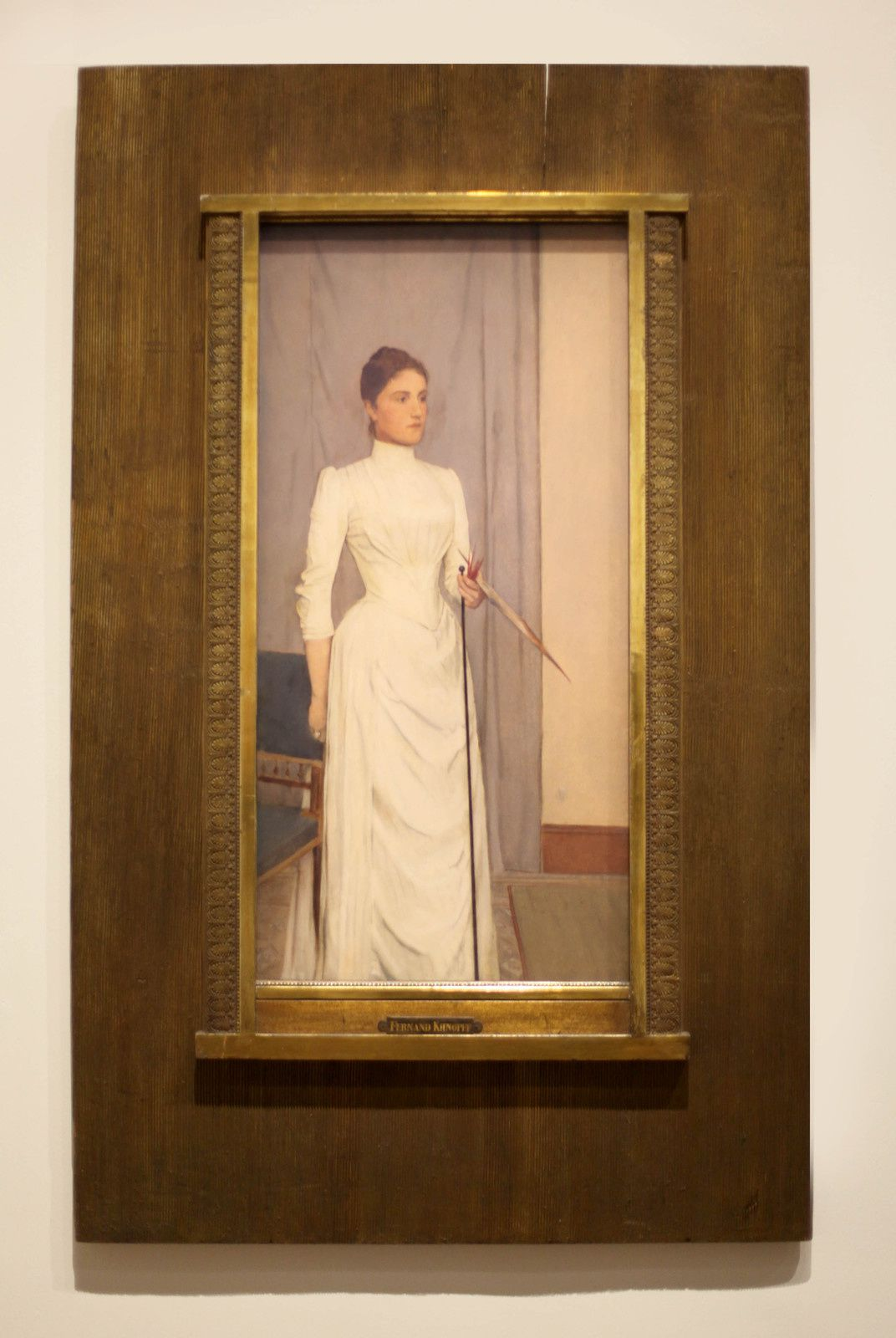 """""""Madeleine Mabille"""", 1888 de Fernand KHNOPFF - Courtesy Carnegie Museum of Art, Pittsburgh © Photo Éric Simon"""