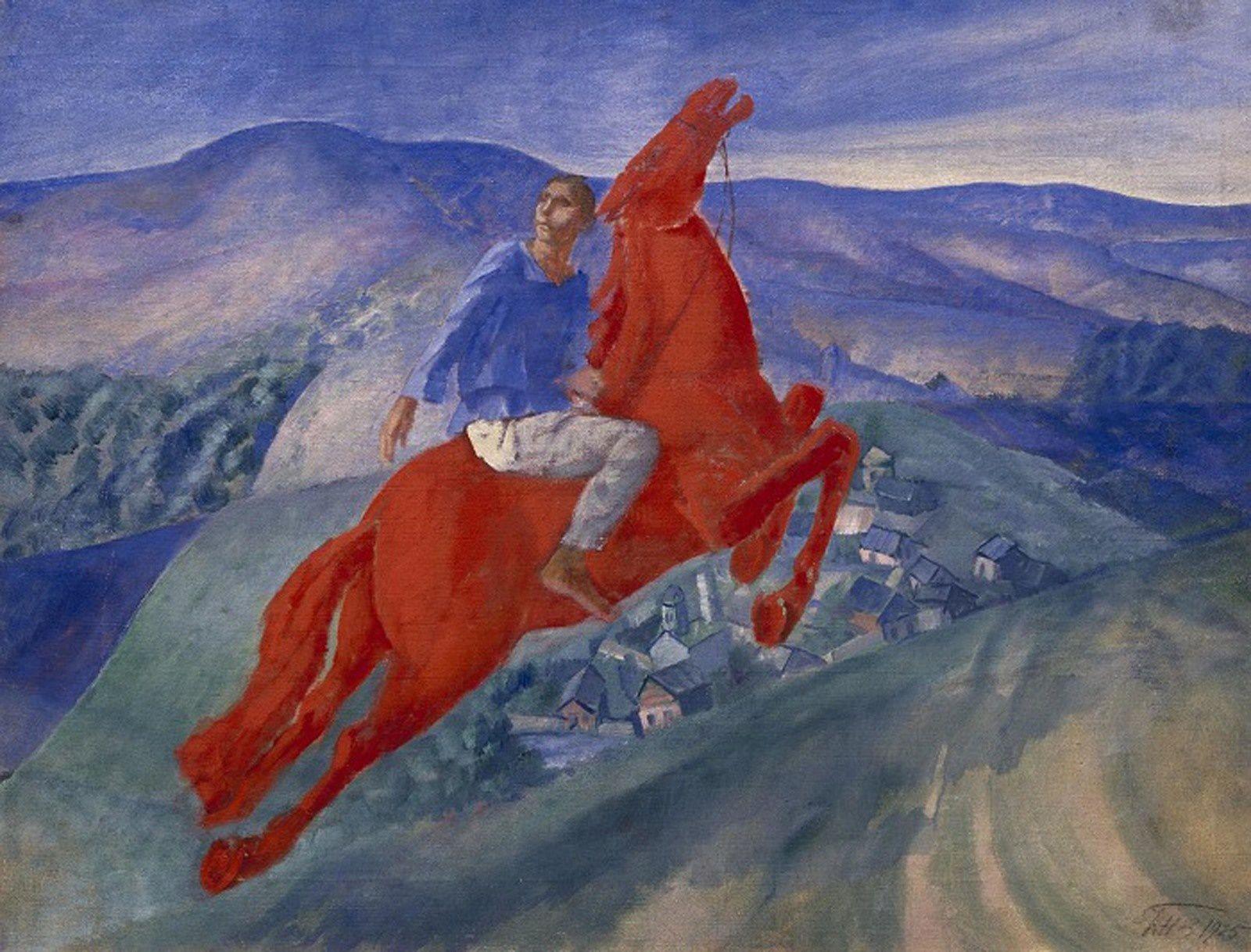 """""""Fantaisie"""", 1925 de Petrov-Vodkine KUZMA - Musée Russe, Saint-Pétersbourg, Russie"""