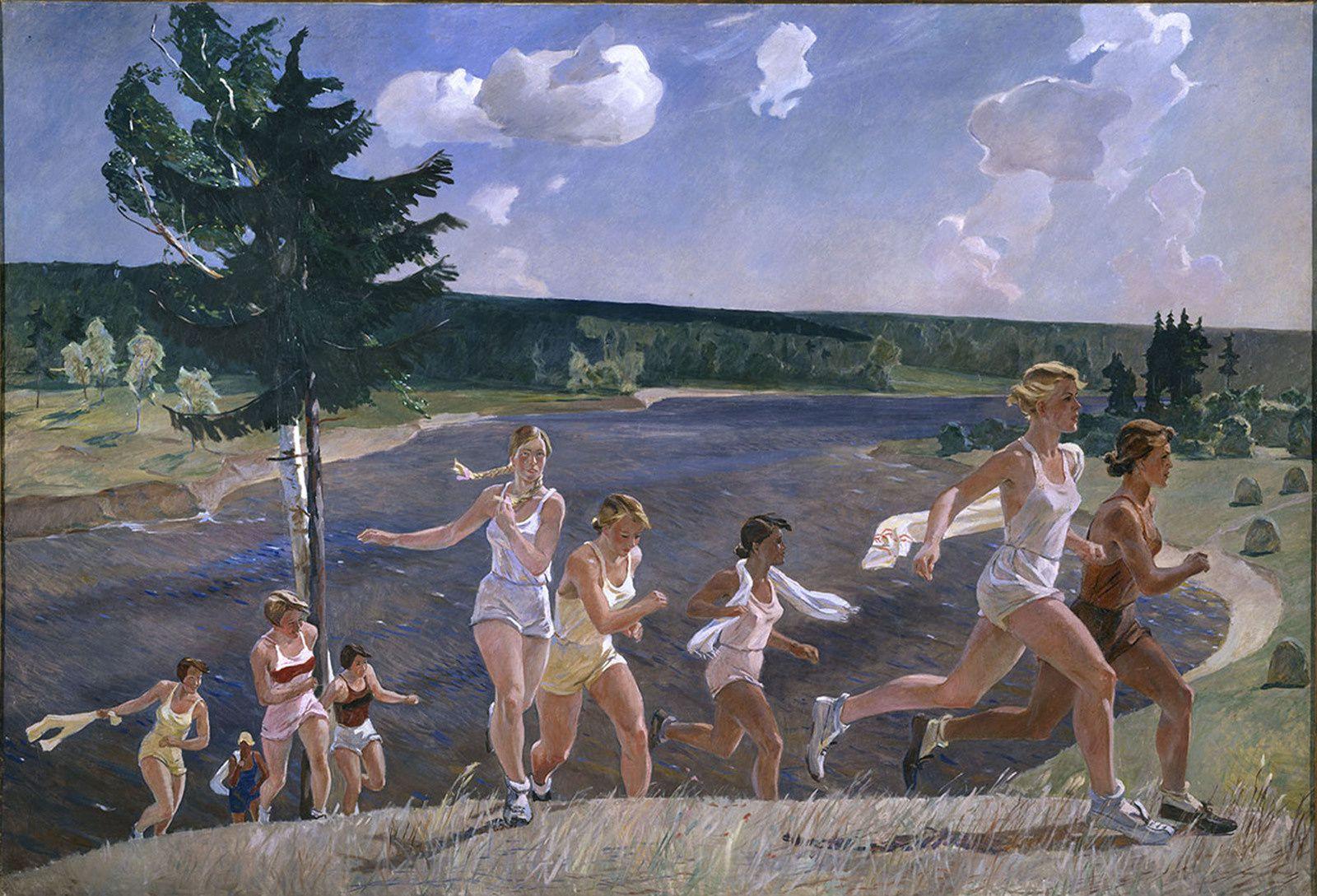 """""""Pleine liberté"""", 1944 de Alexandre DEÏNEKA - Musée Russe, Saint-Pétersbourg, Russie"""