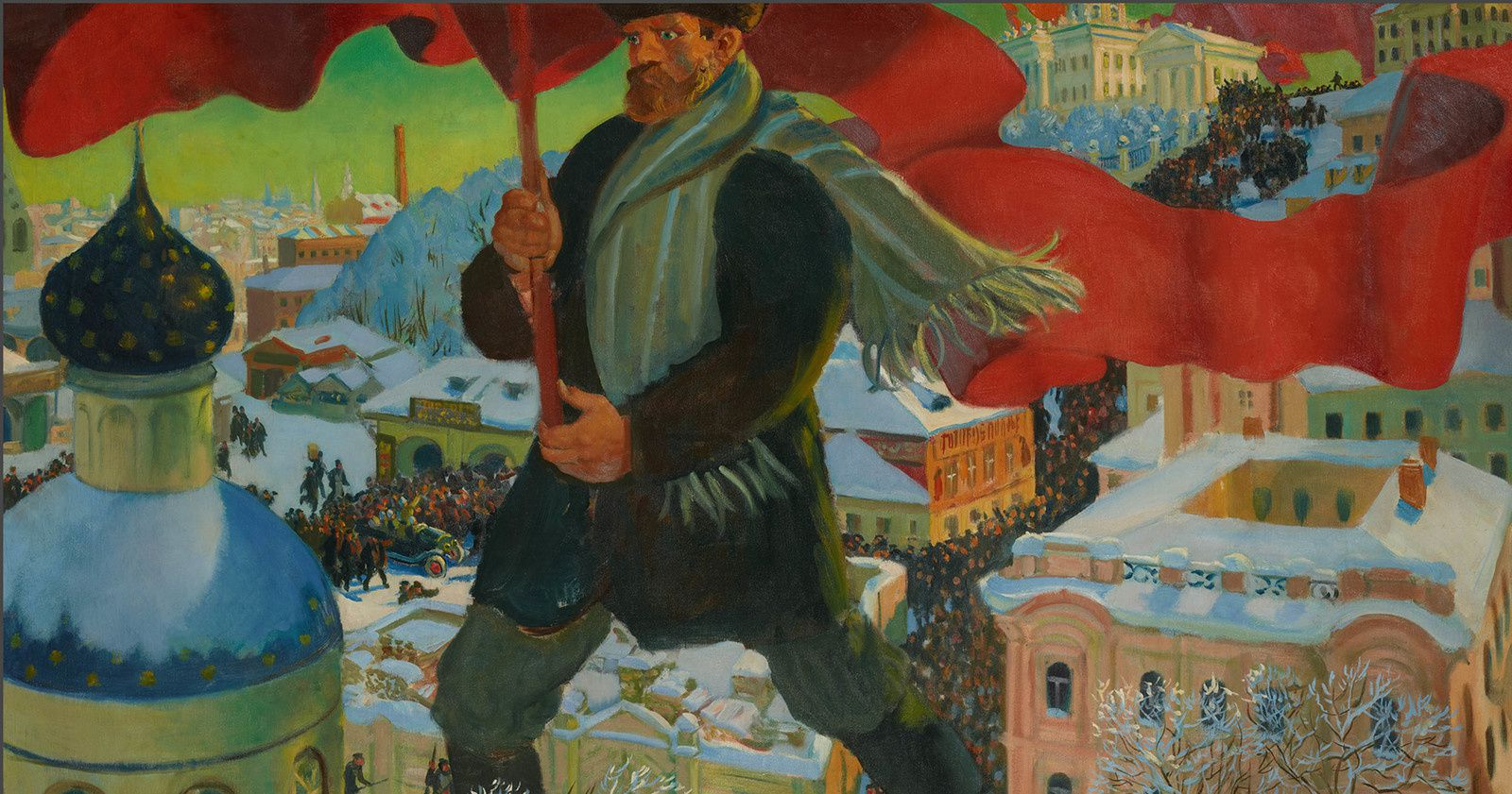 """Bolchévique"", 1920 de Boris KUSTODIEV © Collection de la Galerie nationale Trétiakov, Moscou"