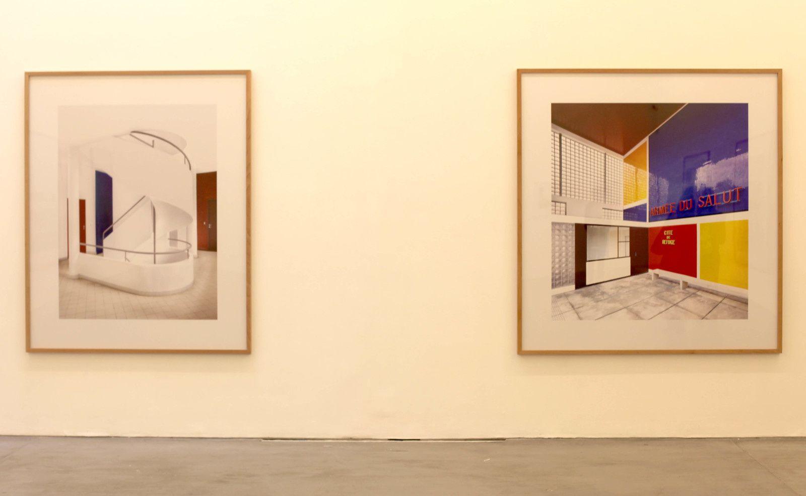 """""""Villa Savoye (Le Corbusier) Poissy VI"""", 2018 et """" Cité Refuge de l'Armée du Salut (Le Corbusier) III Paris"""",  2018 de Candida HÖFER - Courtesy VNH Gallery"""