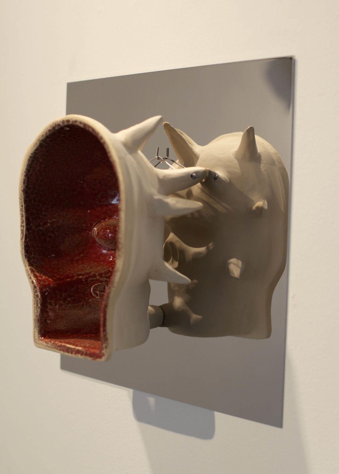 """""""Moule-Masque (Écarlate)"""", 2018 de Erik NUSSBICKER - Courtesy Galerie Maubert © Photo Éric Simon"""