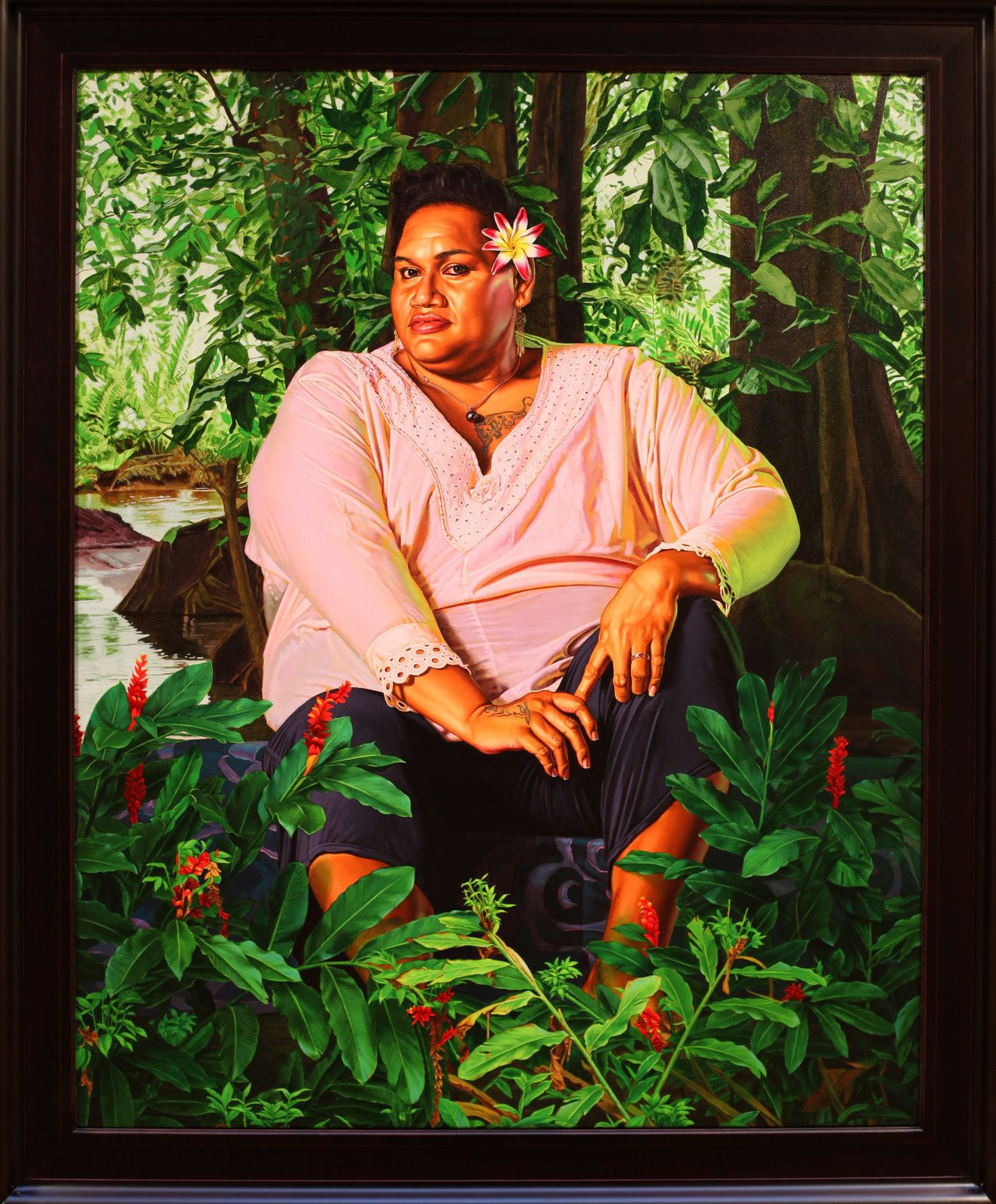 """Portrait of Geysha Kaua"", 2019 de Kehinde WILEY - Courtesy Galerie Templon © Photo Éric Simon"
