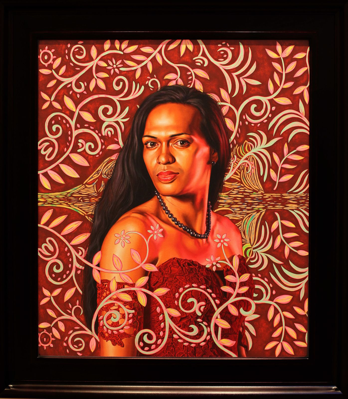 """Portrait of Kea Loha Mahuta"", 2019 de Kehinde WILEY - Courtesy Galerie Templon © Photo Éric Simon"
