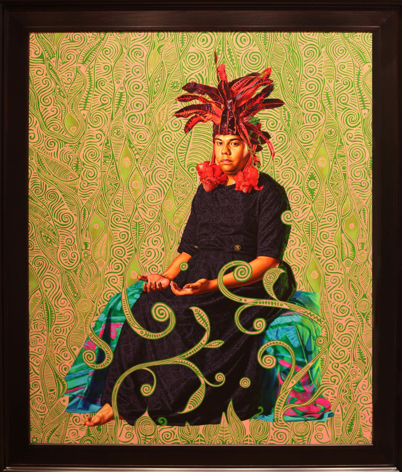 """Portrait of Moerai Matuanui"", 2019 de Kehinde WILEY - Courtesy Galerie Templon © Photo Éric Simon"