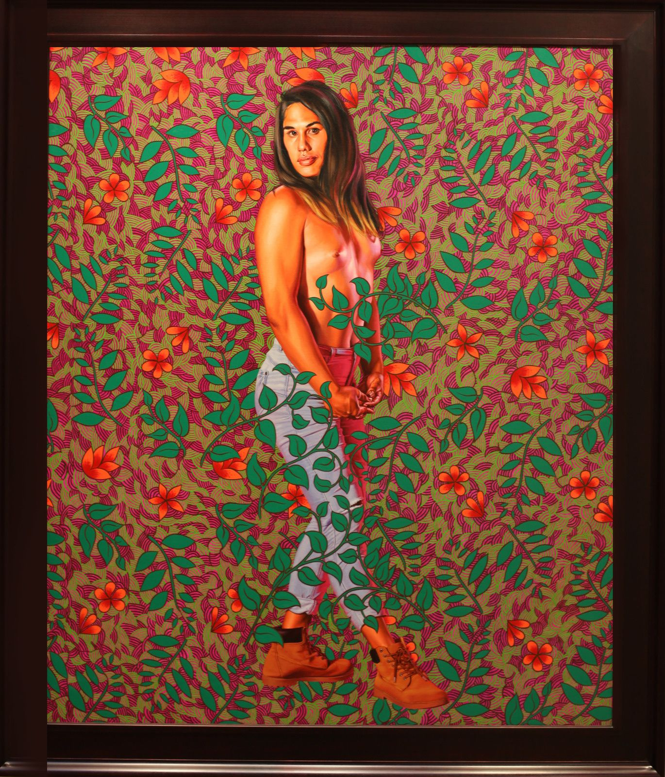 """Portrait of Belicia Tautu"", 2019 de Kehinde WILEY - Courtesy Galerie Templon © Photo Éric Simon"