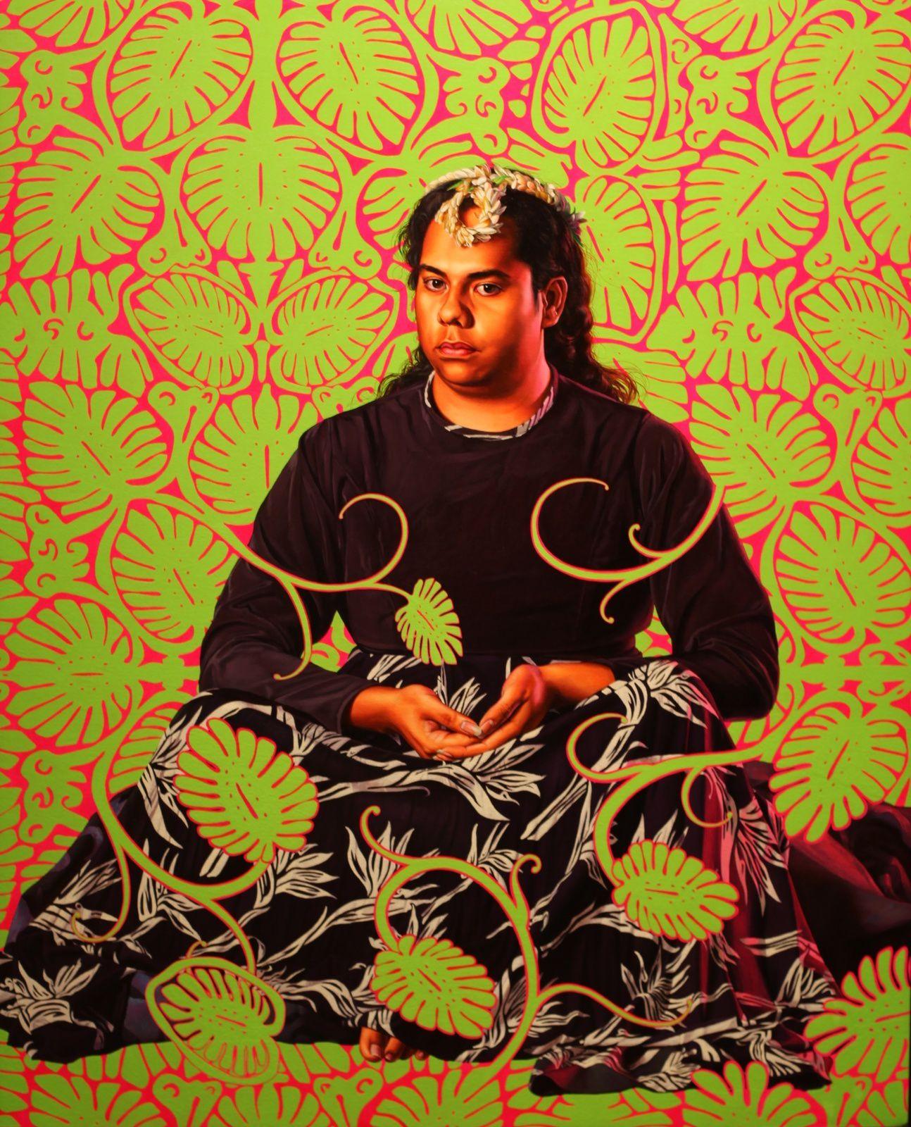 """Portrait of Moerai Matuanui, II"", 2019 de Kehinde WILEY - Courtesy Galerie Templon © Photo Éric Simon"