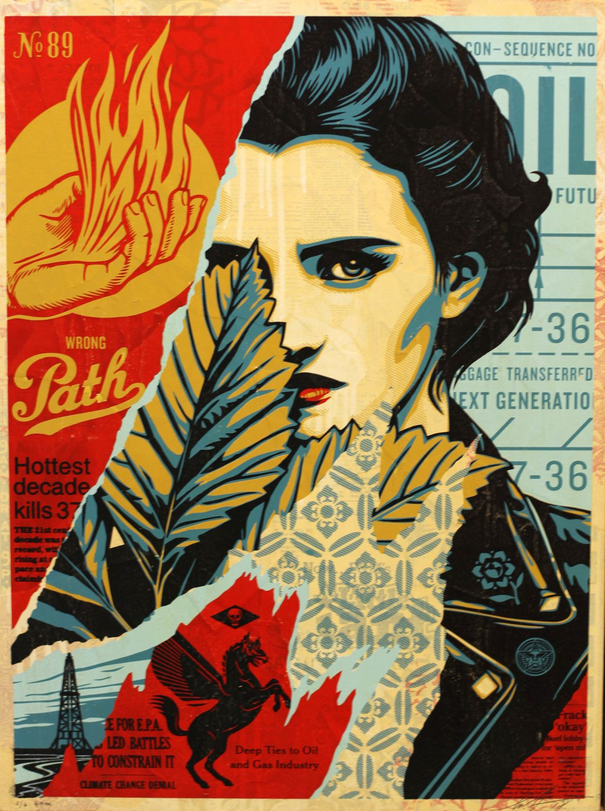 """Wrong Path"", 2018 de Shepard FAIREY - Courtesy Galerie Itinerrance © Photo Éric Simon"