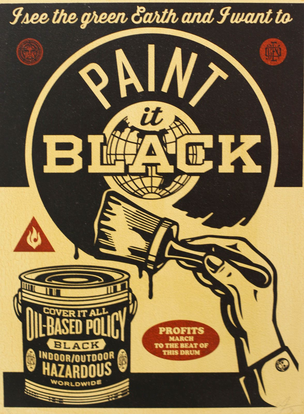 """Paint it Black"", 2014 de Shepard FAIREY - Courtesy Galerie Itinerrance © Photo Éric Simon"