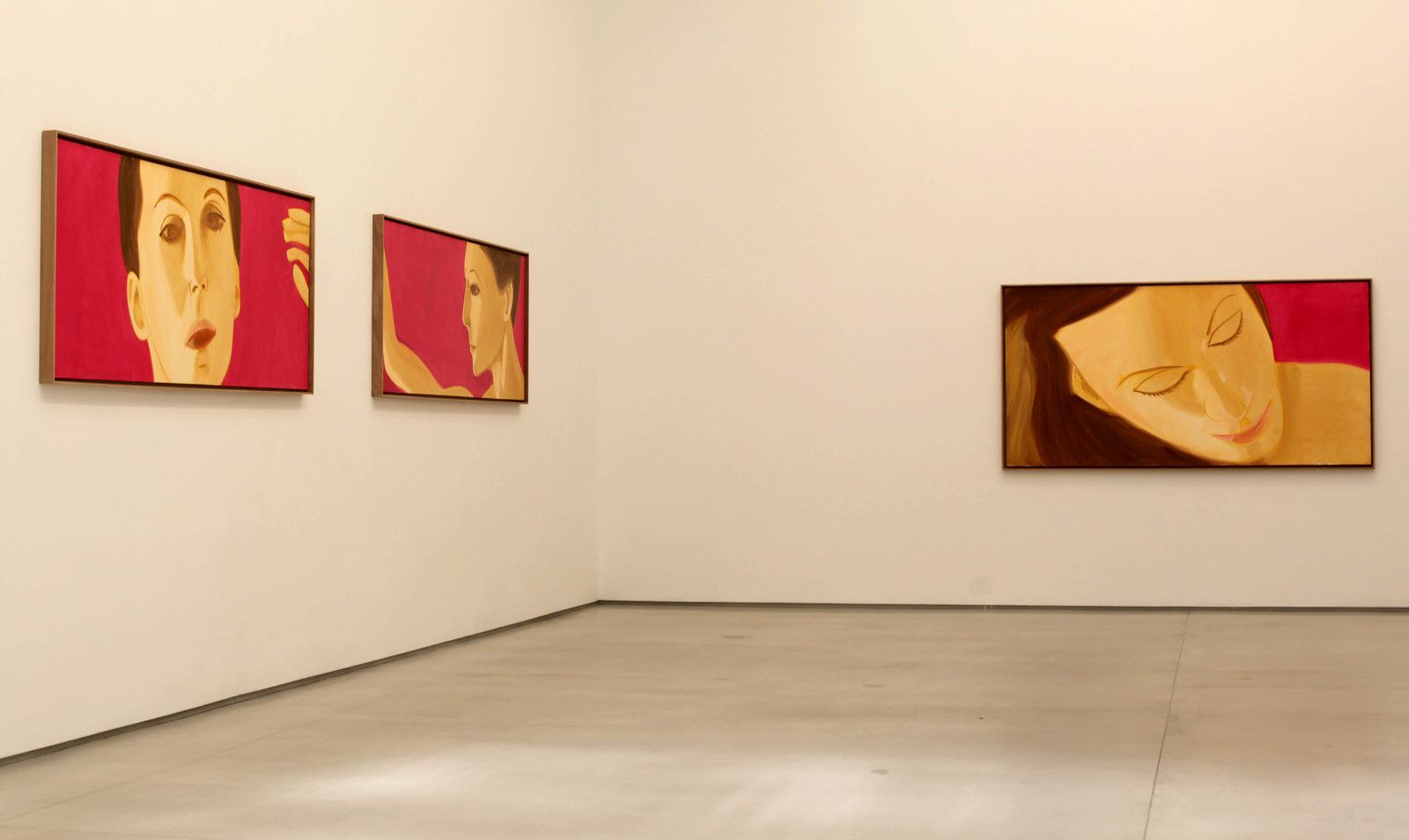 """Red Dancer 4 , 3, 2"", 2018 de Alex KATZ - Courtesy Galerie Thaddaeus Ropac © Photo Éric Simon"