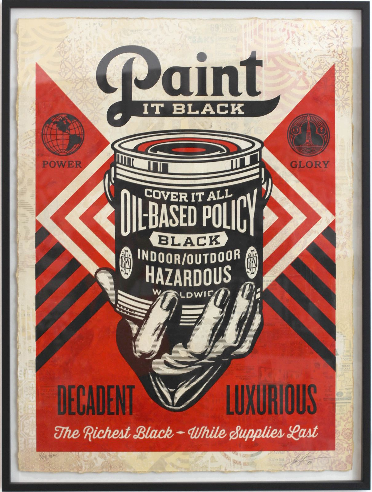 """Paint it Black"", 2019 de Shepard FAIREY - Courtesy Galerie Itinerrance © Photo Éric Simon"